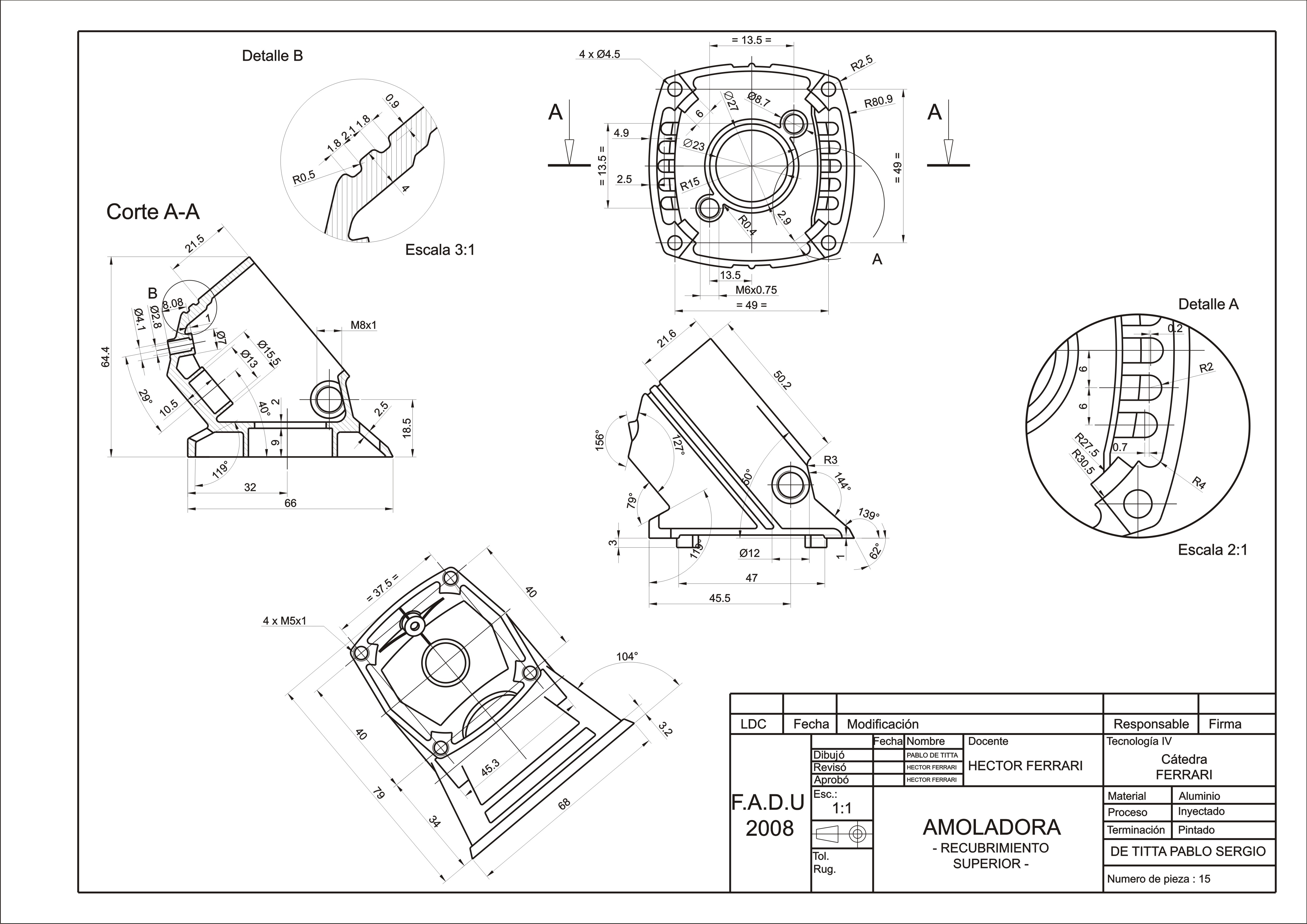 Technical drawings by Pablo De Titta at Coroflot.com