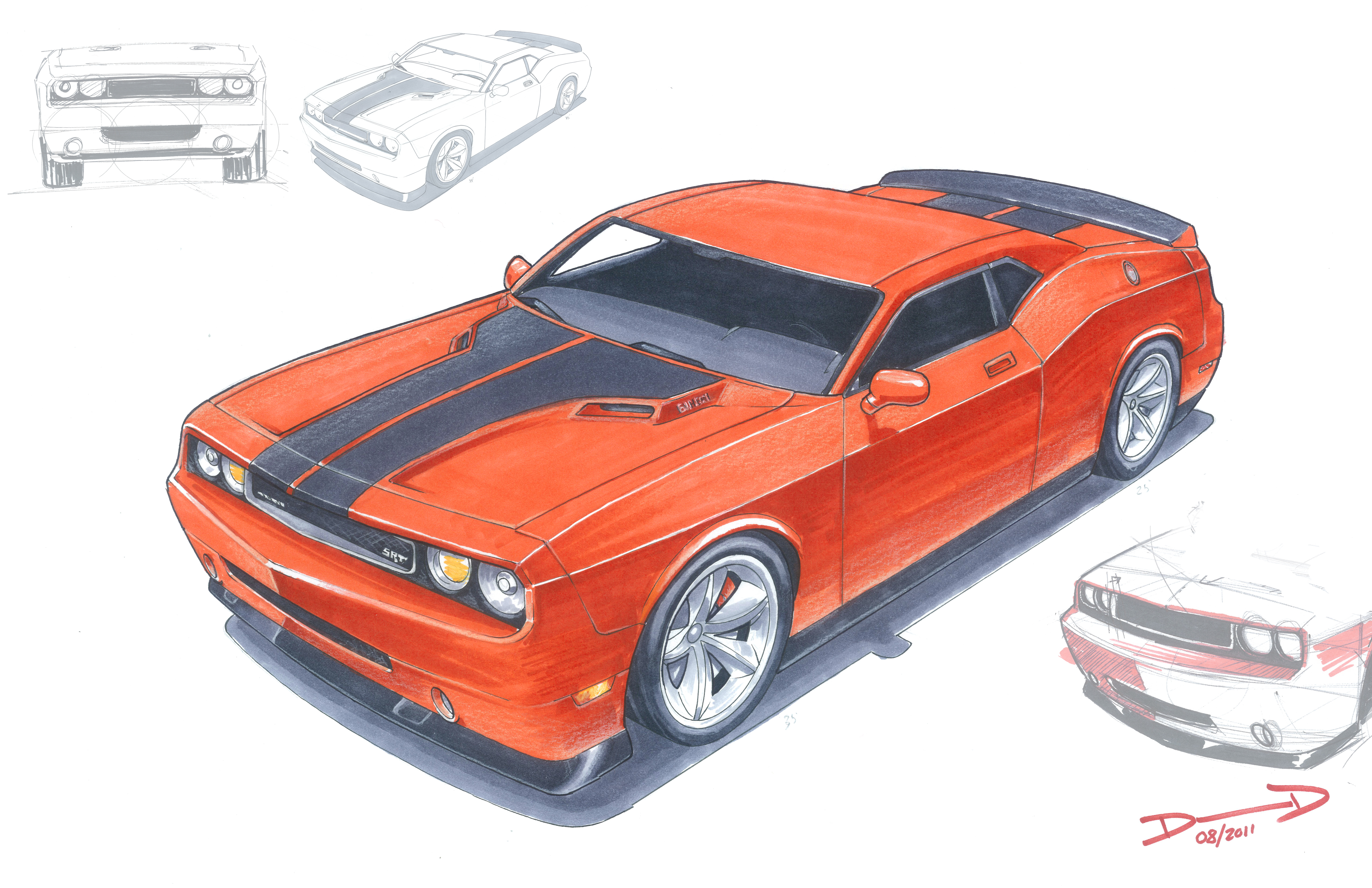 How to draw dodge challenger rt 2011 - 1970 Dodge Challenger Drawing Hd Pictures