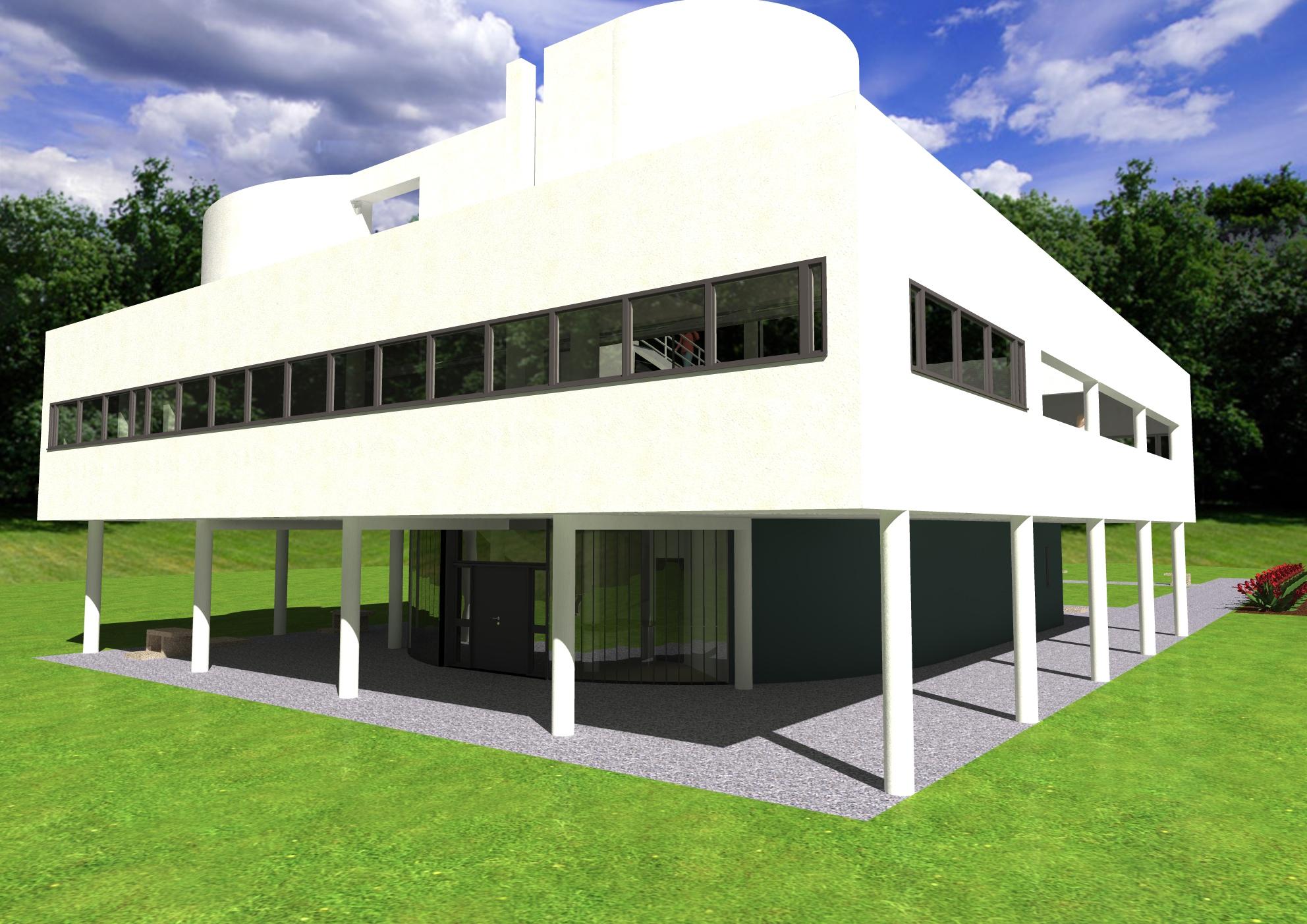 Le corbusier villa savoye by daniel gauden at - Le corbusier villa savoye ...
