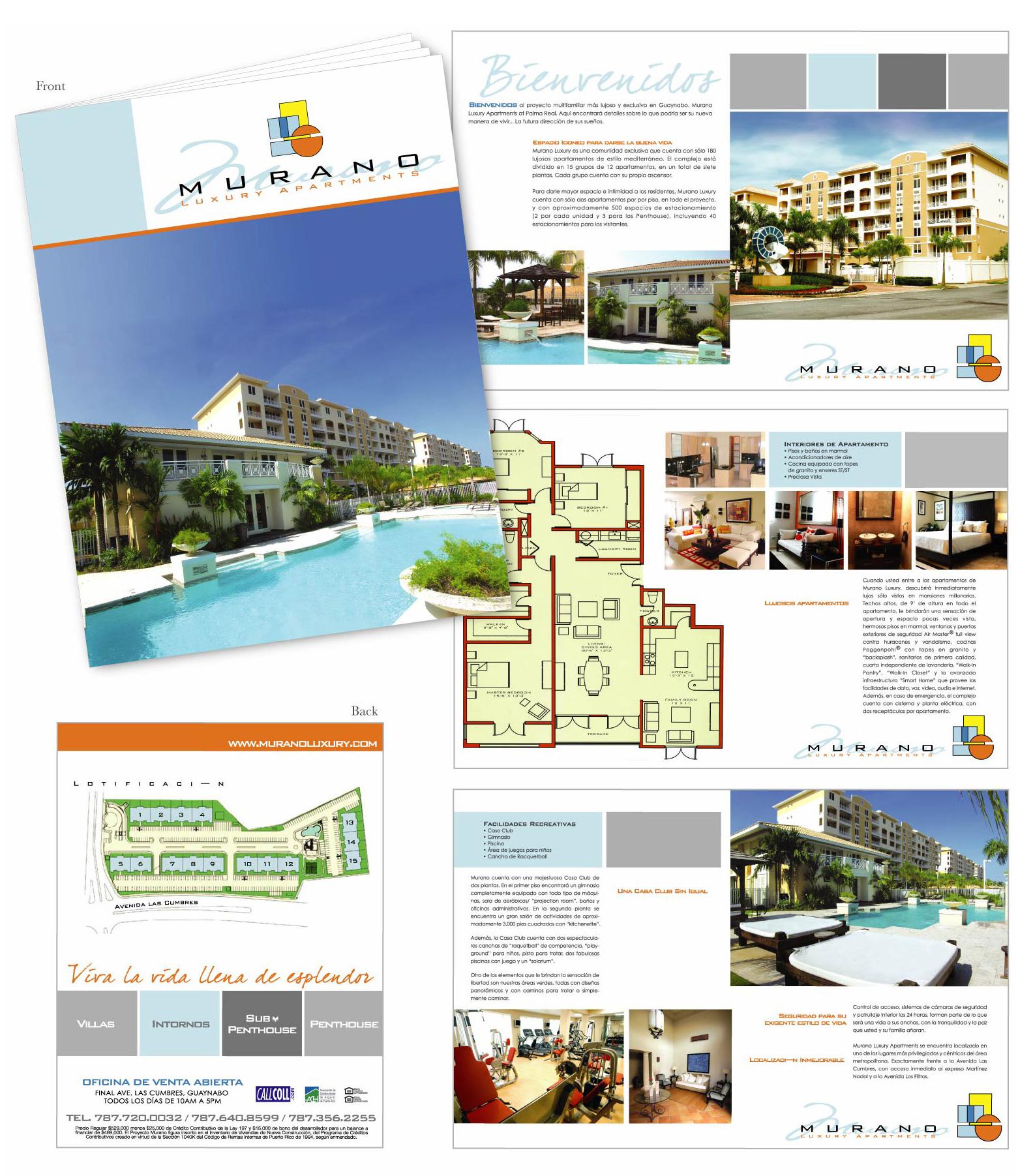 Murano Apartments: Brochures And Menus By Maria Isabel Oliver At Coroflot.com