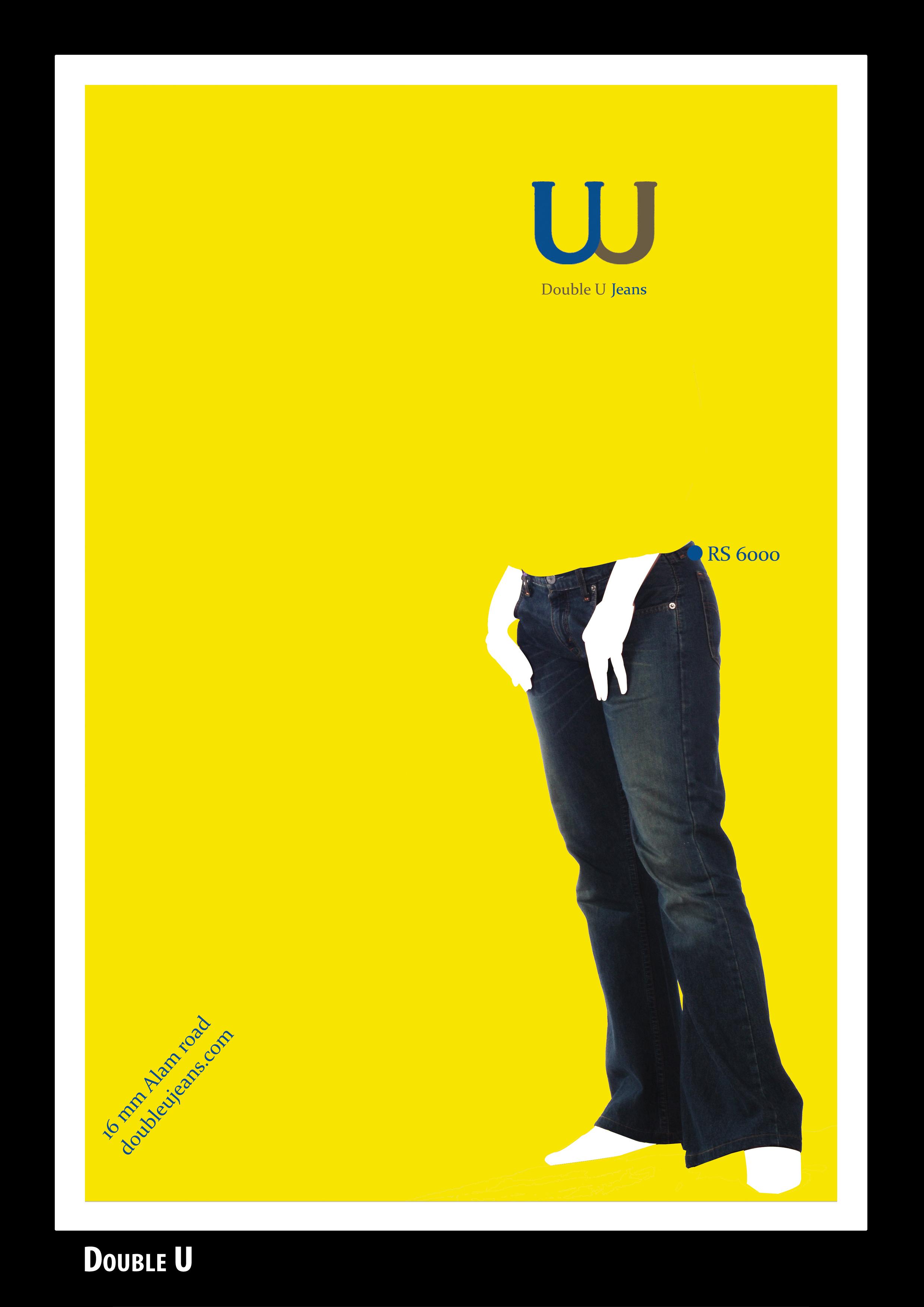 Poster design jeans - Double U Jeans Magazine Print 3