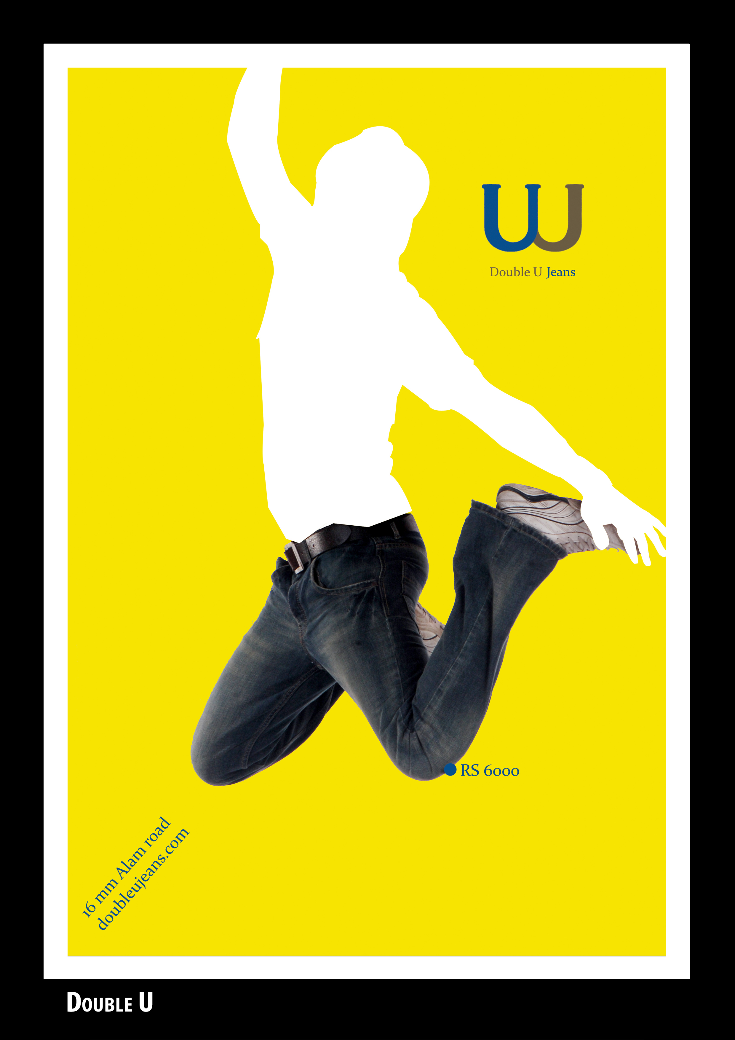 Poster design jeans - Double U Jeans Magazine Print 2