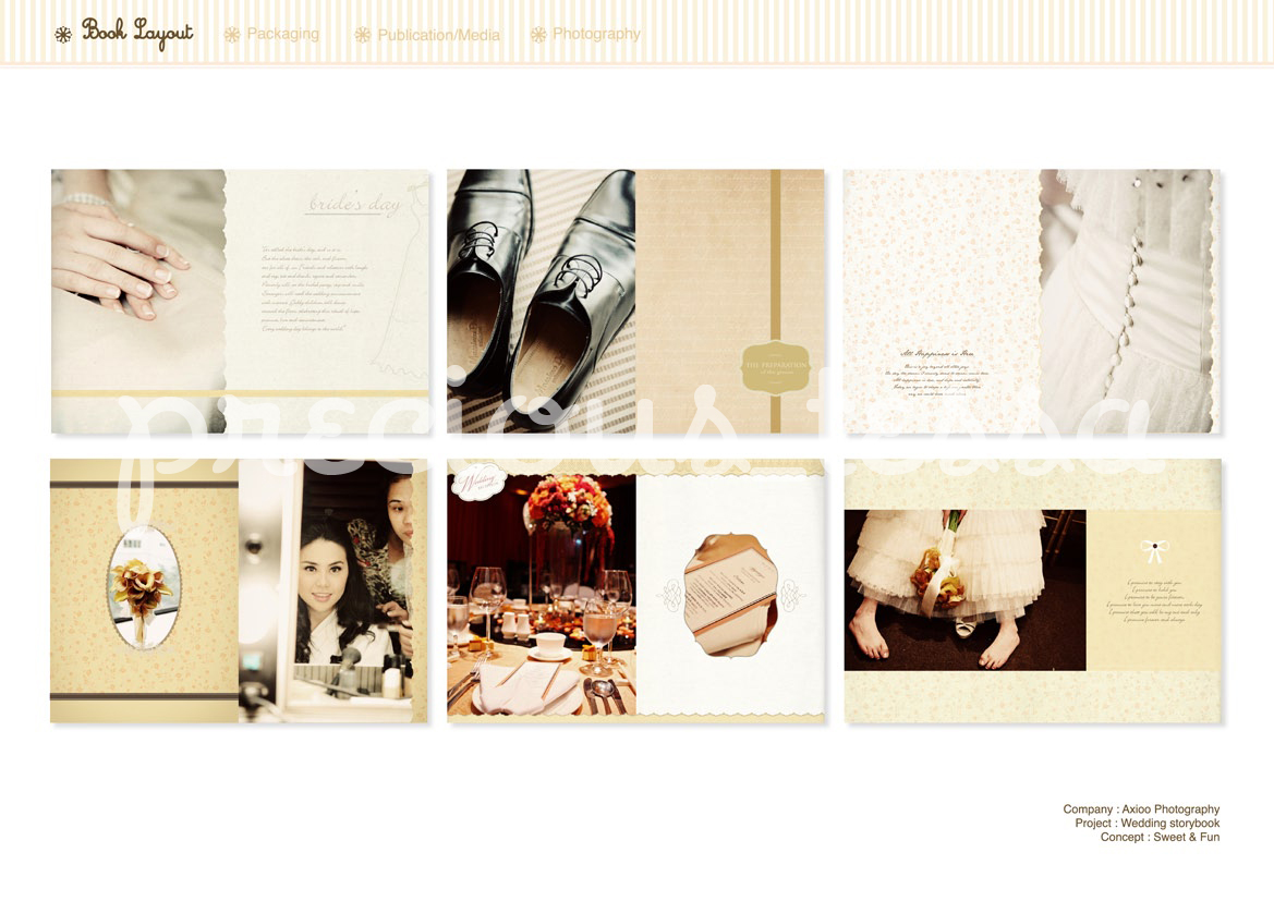 Int. Wedding Book Layout by Tessa Hutapea at Coroflot.com