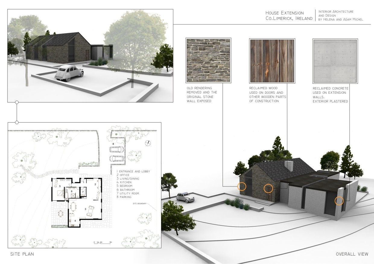 Residential interior design by helena michel at for Cottage extension designs