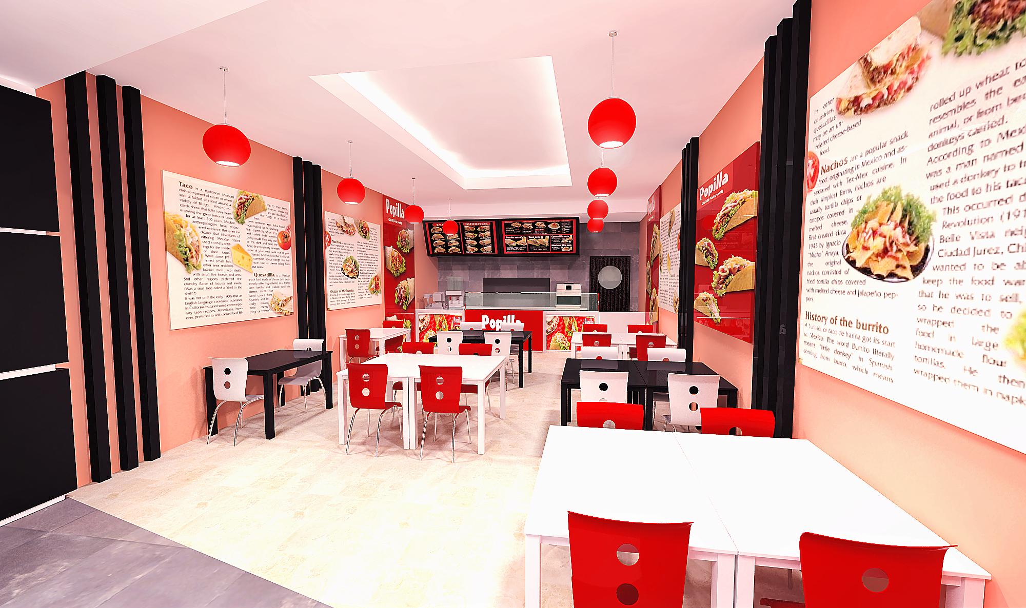 Popillia restaurant interior proposals by khairul anwar