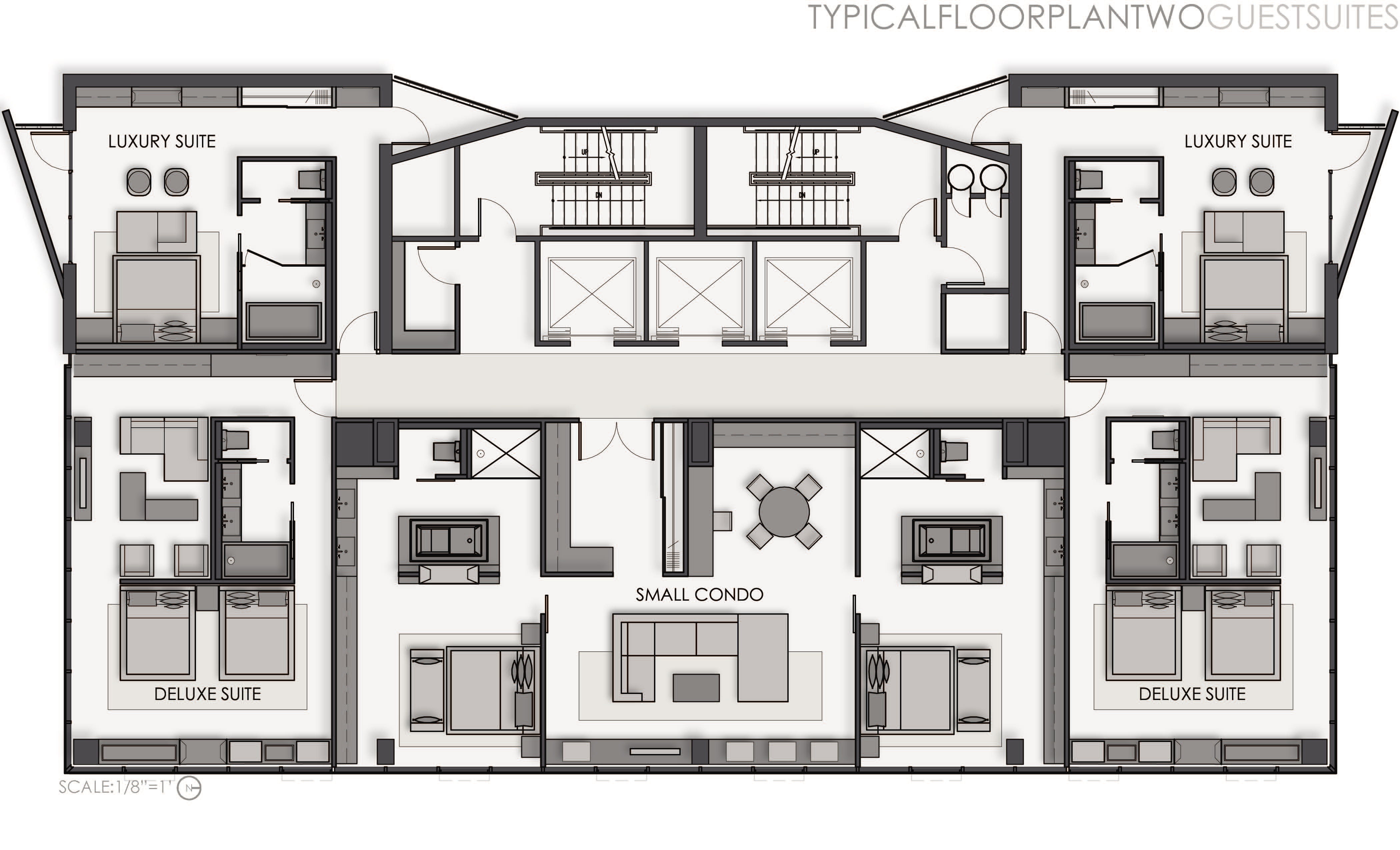 Thesis a boutique hotel by shelley quinn at for Hotel floor plan design