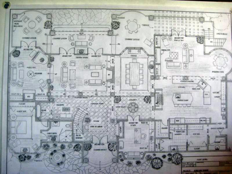 main level floor plan spanish colonial residence by greta 301 moved permanently
