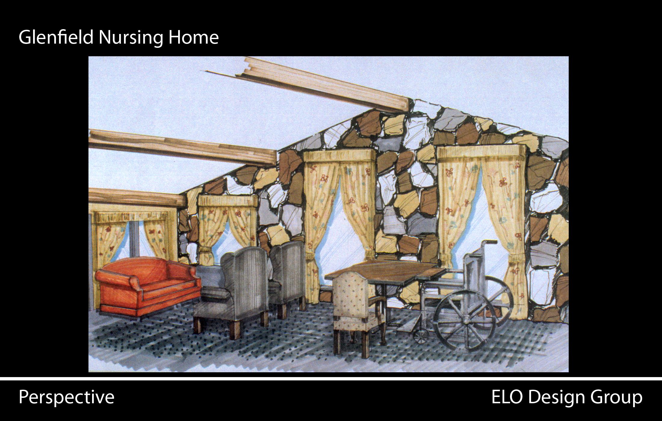 H and h home interior design - Interior Design Nursing Home Hand Drawn Renderings Of Interior Spaces H