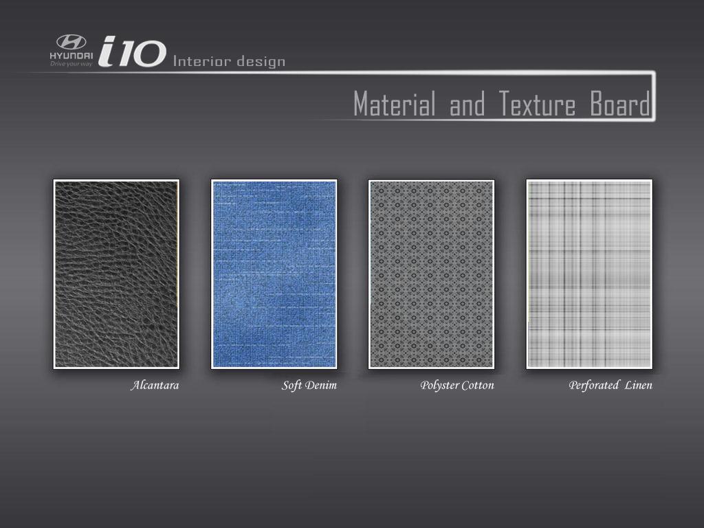 Car interior material - Material Texture Board Interior Design Of I10