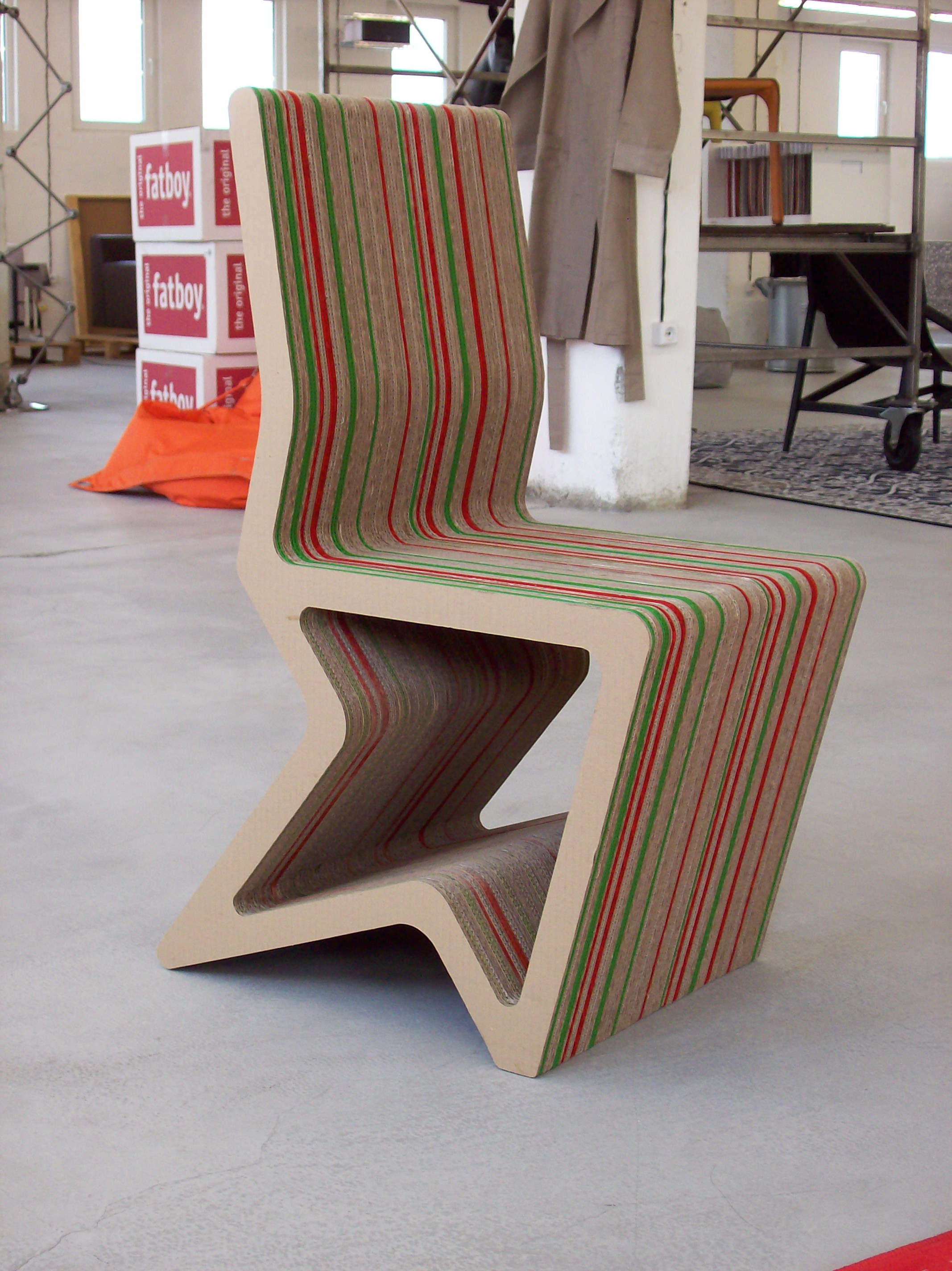 Cardboard furniture by Konstantin Achkov at Coroflot