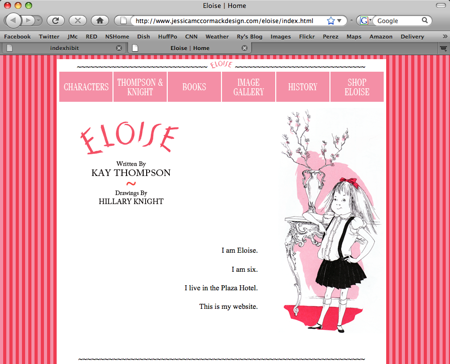 html homepage: