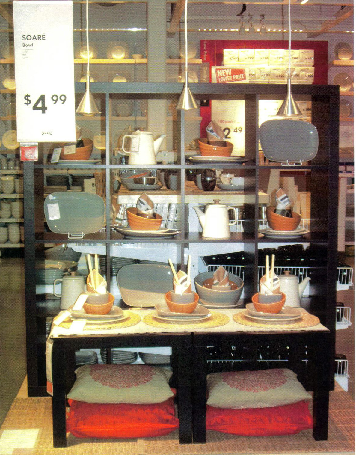 Display Podiums Throughout The Marketplace Featuring New And Highlighted Products
