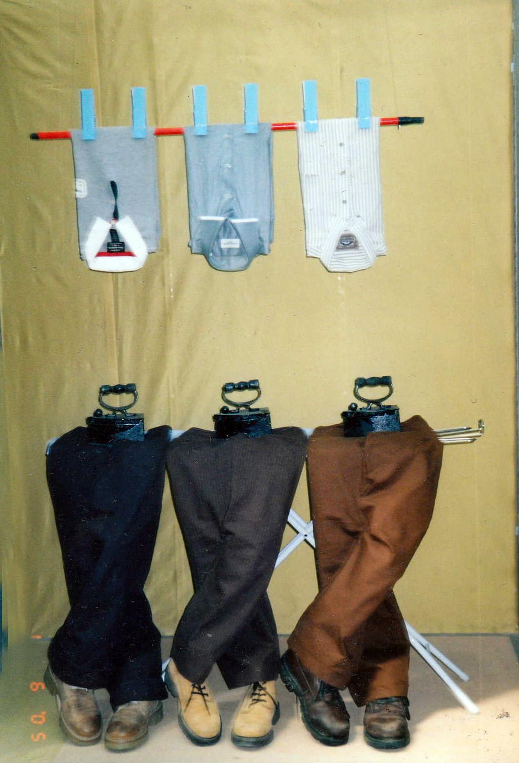 men clothing - store window