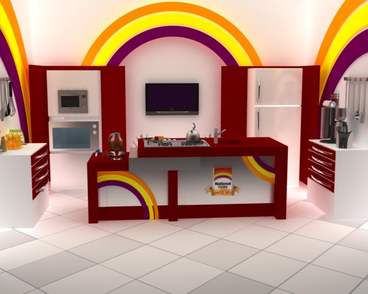 Tv Set Design By Asif Raza At