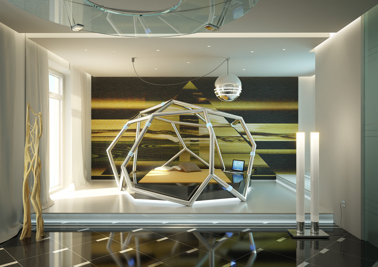 futuristic bedroom by nickolay yegorov at