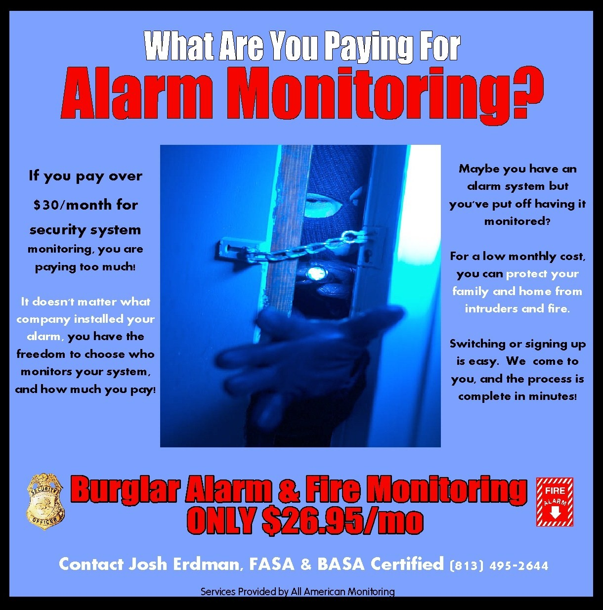 advertising and other designs by crystal desilet at com alarm monitoring advertisement neighborhood flyer and advertisement for alarm monitoriing