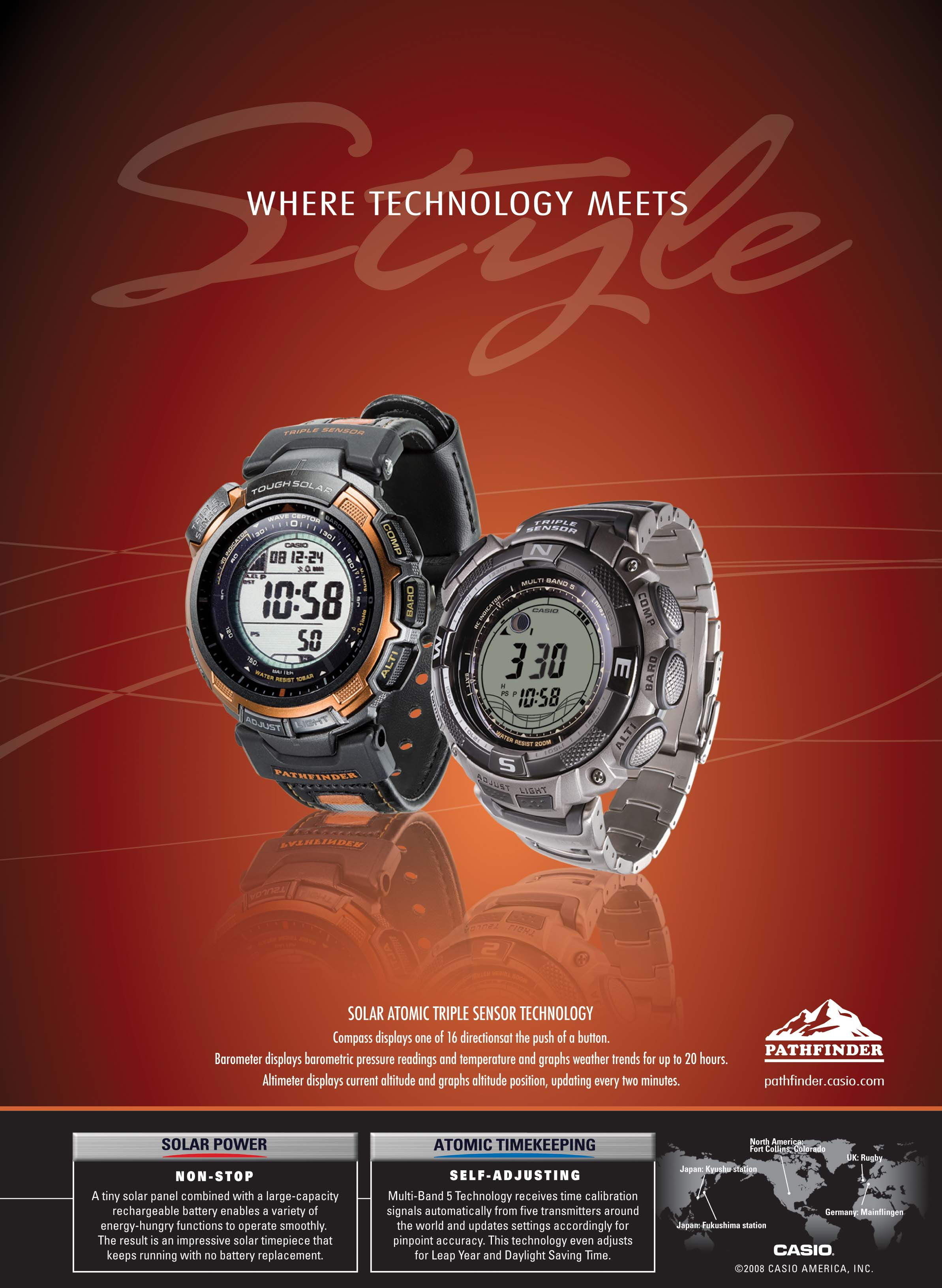 pathfinder watches casio  outisde magazine ad  by gabriel