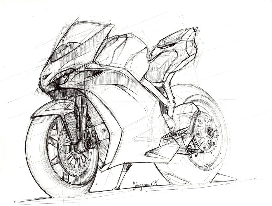 motorcycles sketches by cl u00e9ment lagneau at coroflot com