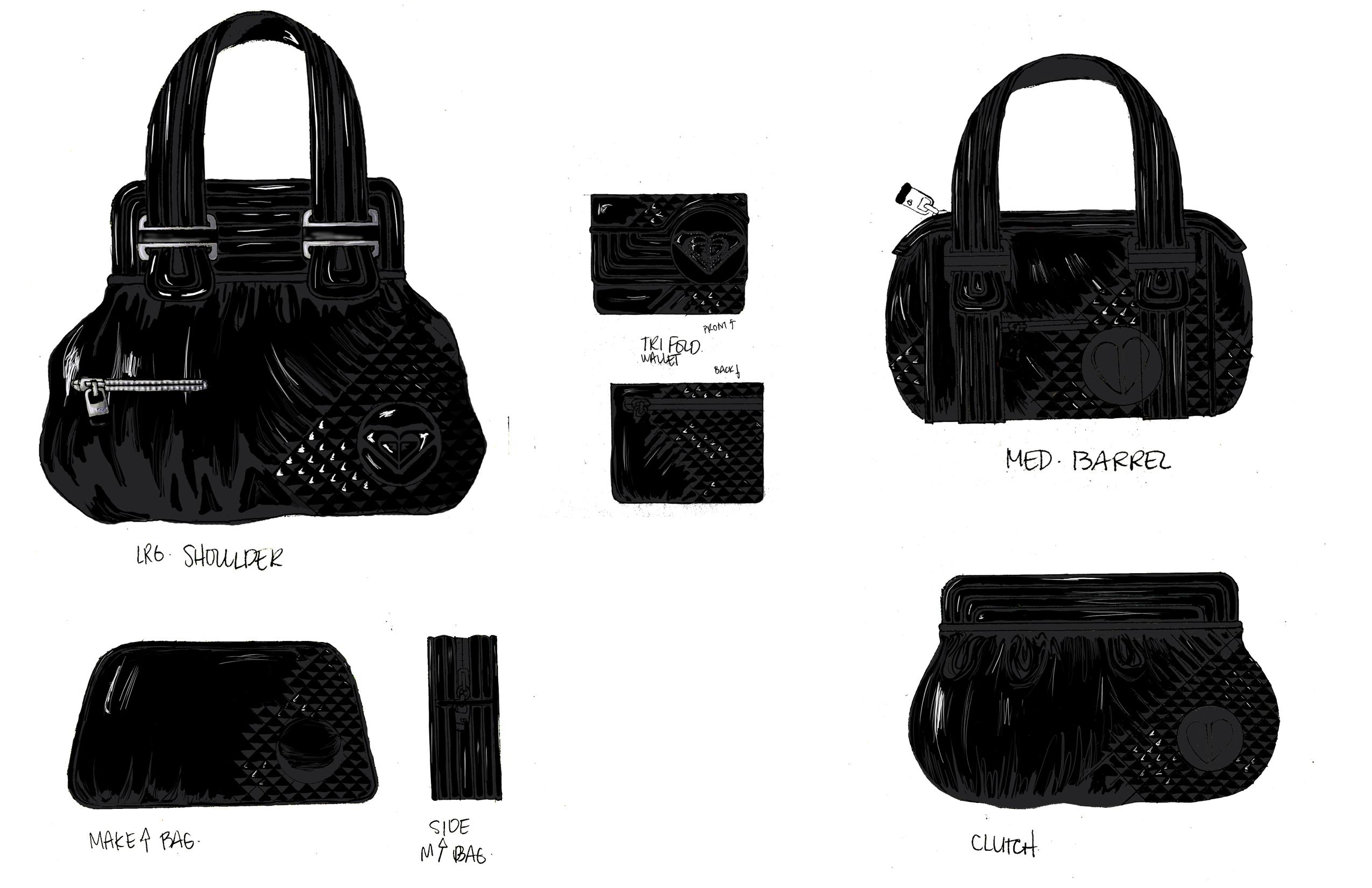 Handbag Illustrations Roxy Handbag Illustrations