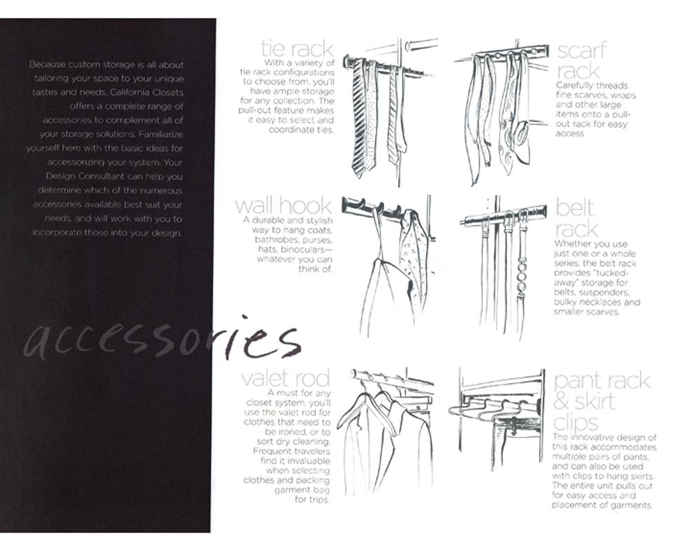 California Closets Catalog  Accessories