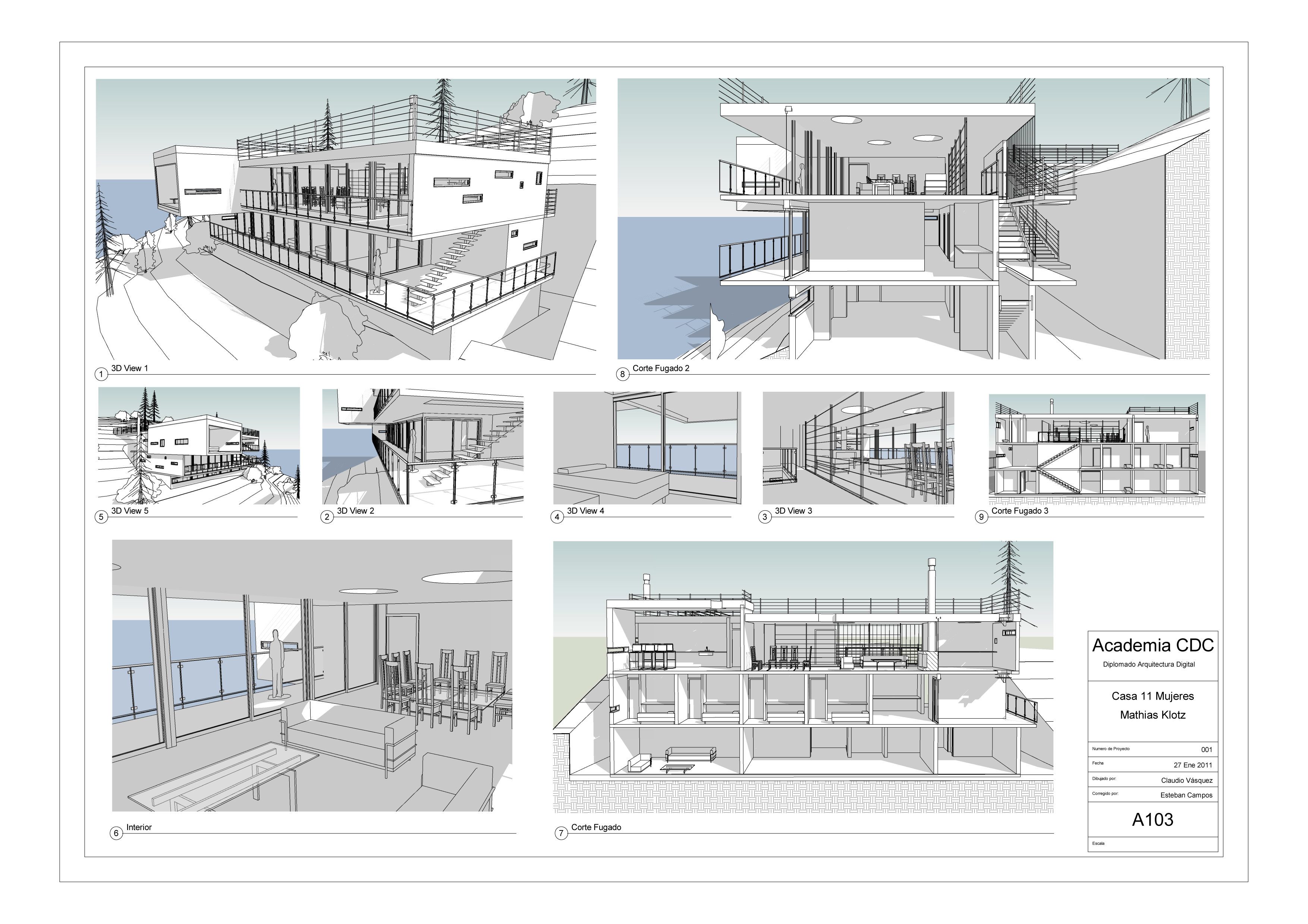 3dmax Revit Arquitectura By Claudio Vasquez At