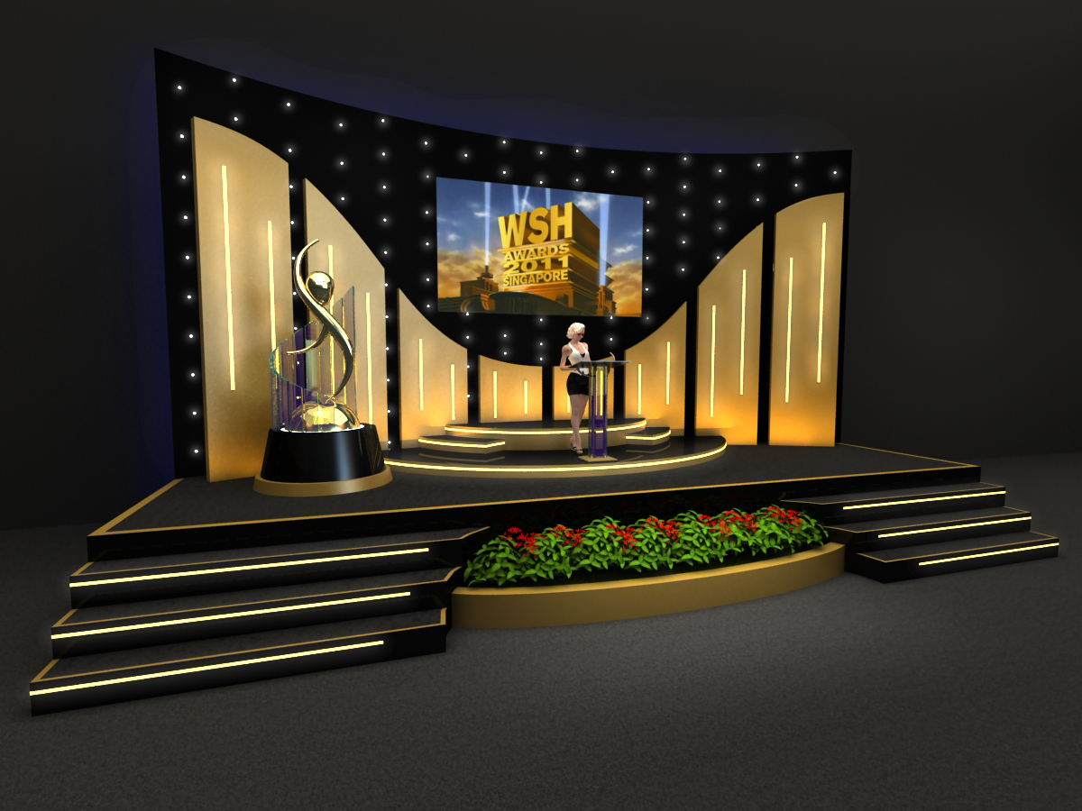 Stage design 3d by rommel laurente at 3d design free