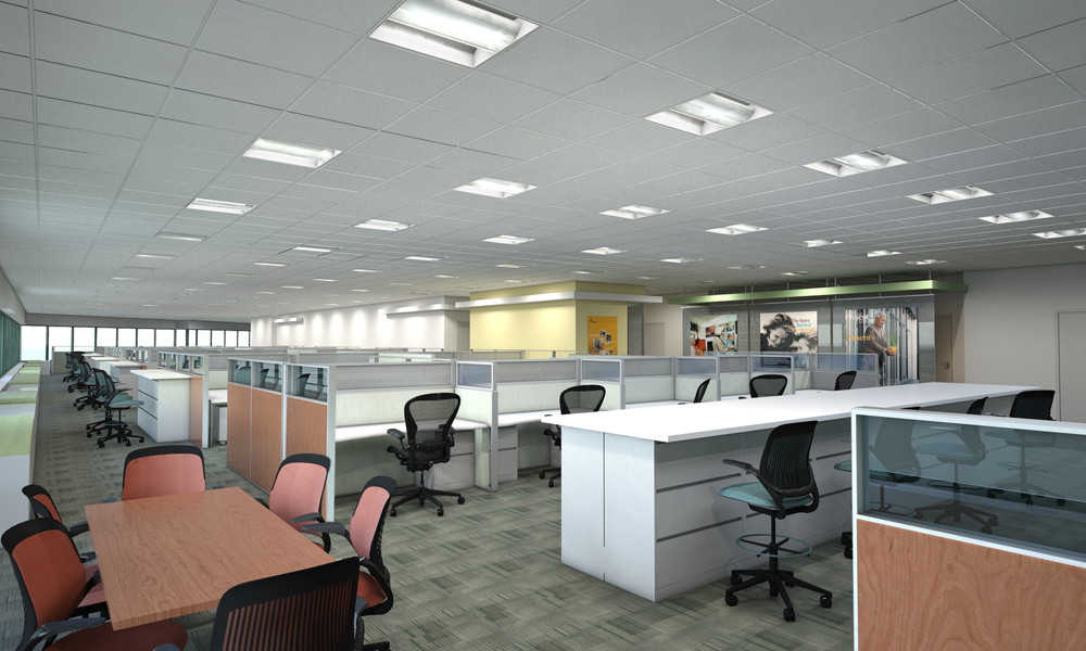 2011 3d architectural renderings interiors01 by michael for Bureau open space dimension