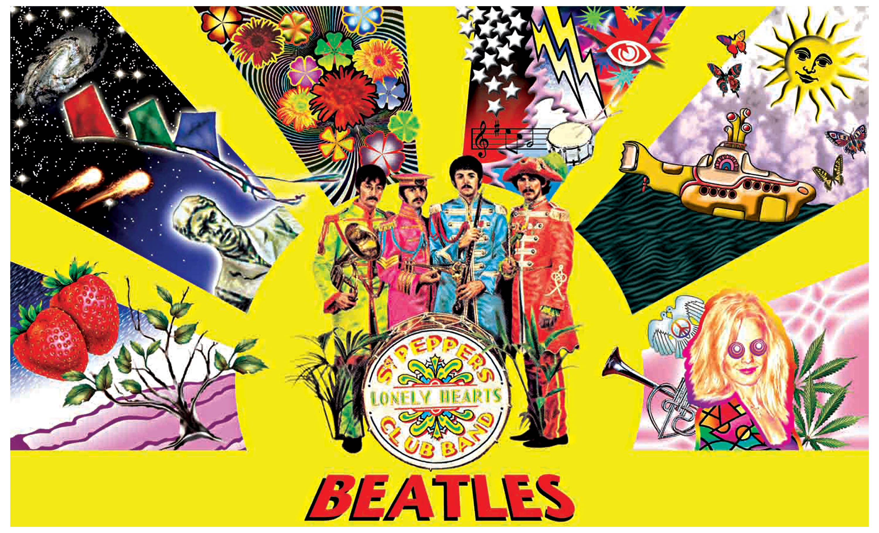 The psychedelic beatles and the sgt pepper s lonely hearts club band
