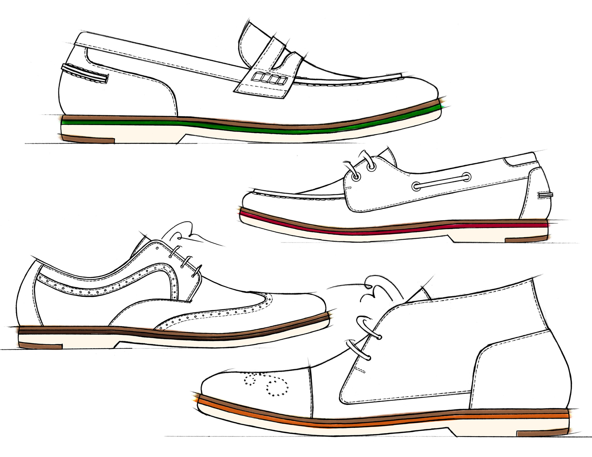 Technical Drawings Mens Shoes