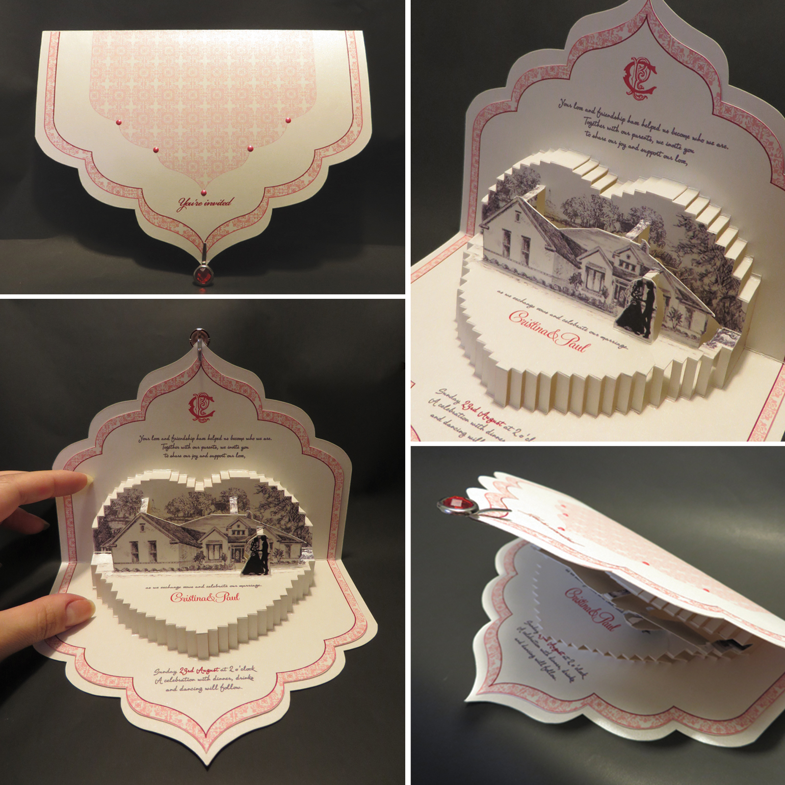 creative wedding invitations paper artolga cuzuioc