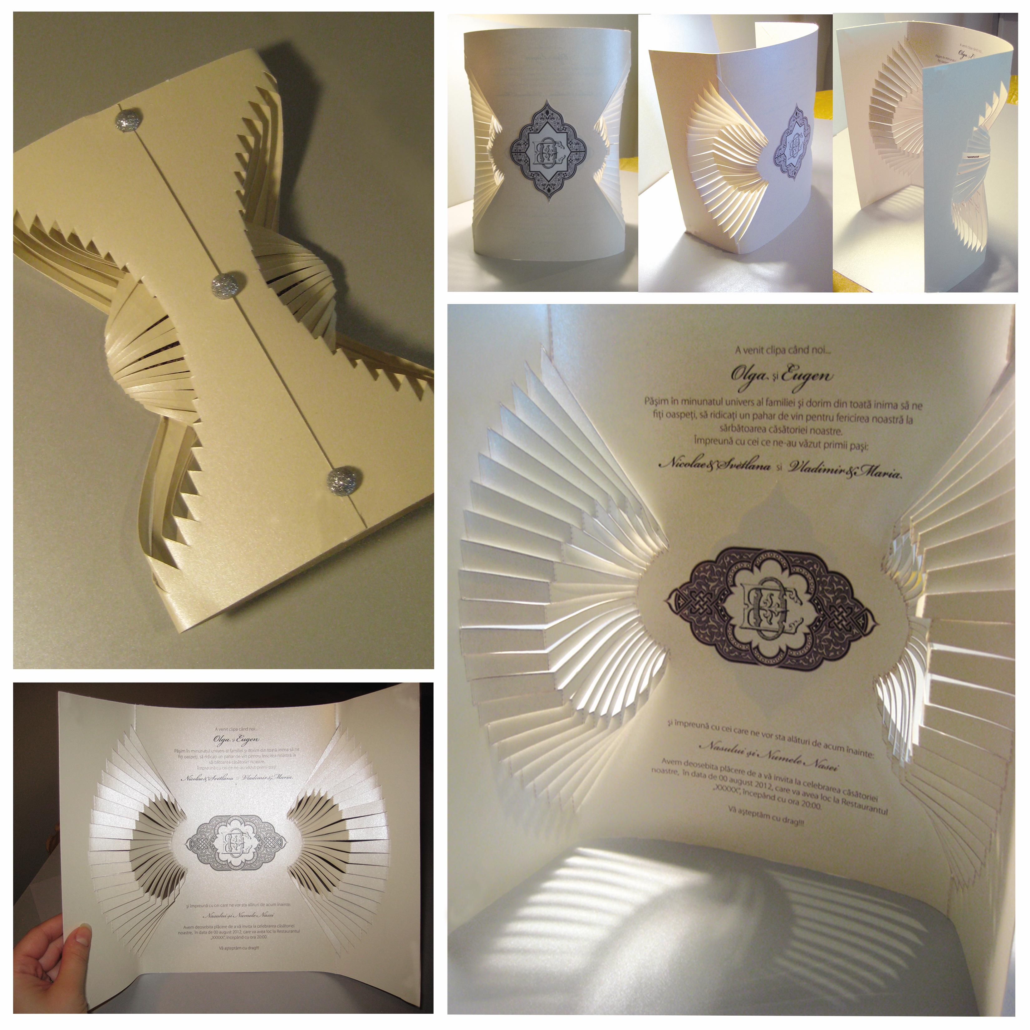 Creative Wedding Invitations. Paper Art. By Olga Cuzuioc
