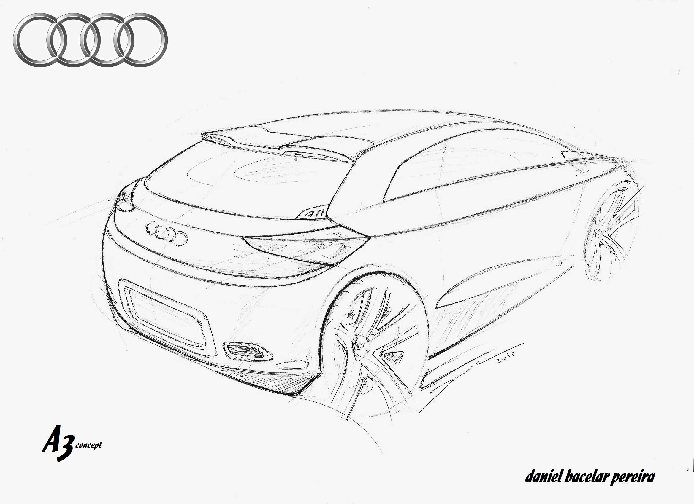 sketch audi a3 sportback coloring pages