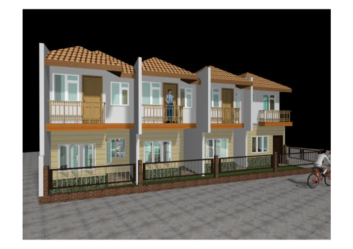 Vallido 2 storey 4 door apartment by don bergonia at for Two storey apartment design