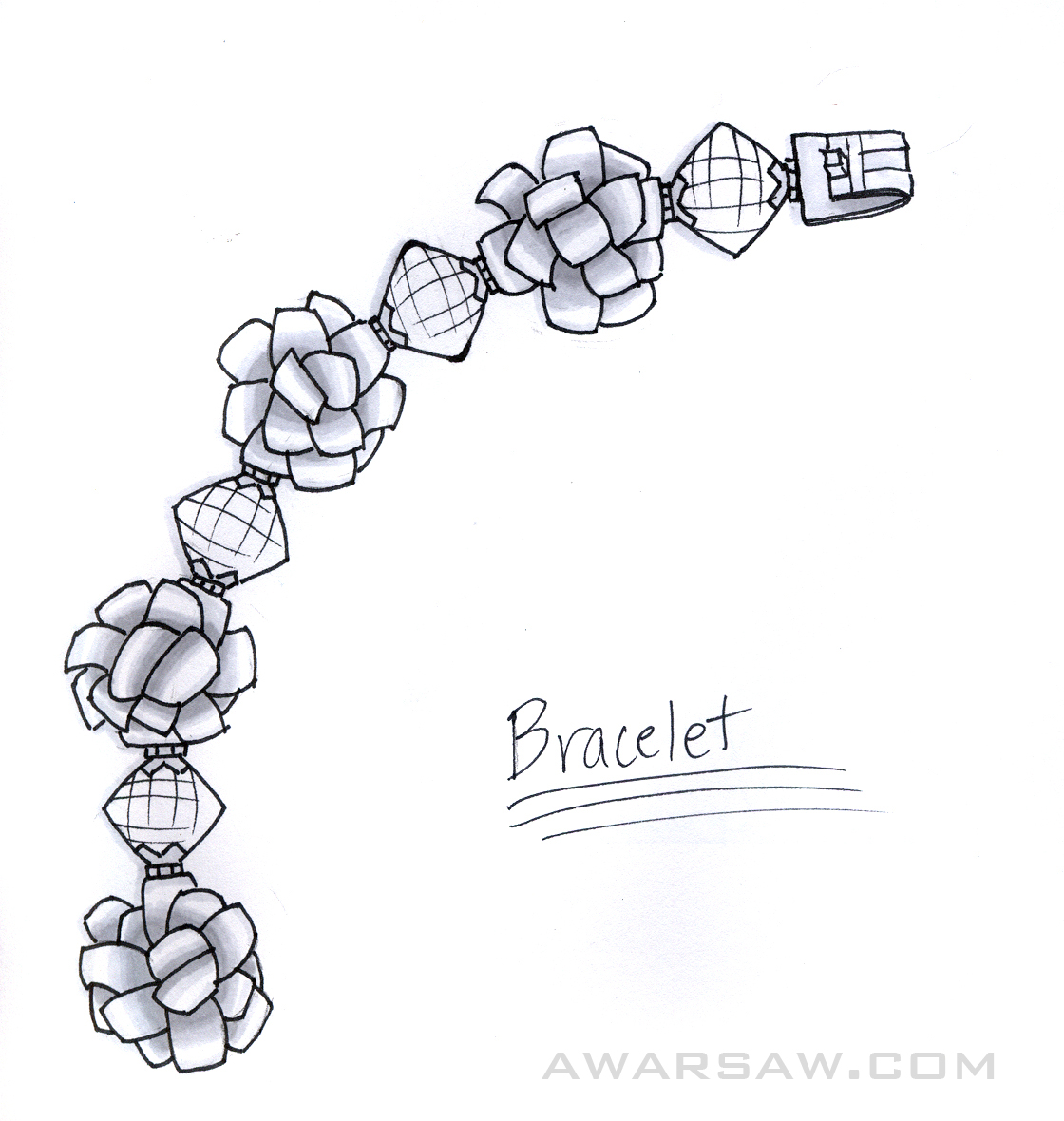 Jewelry Sketches & Renders by Ashley Warsaw at Coroflot.com