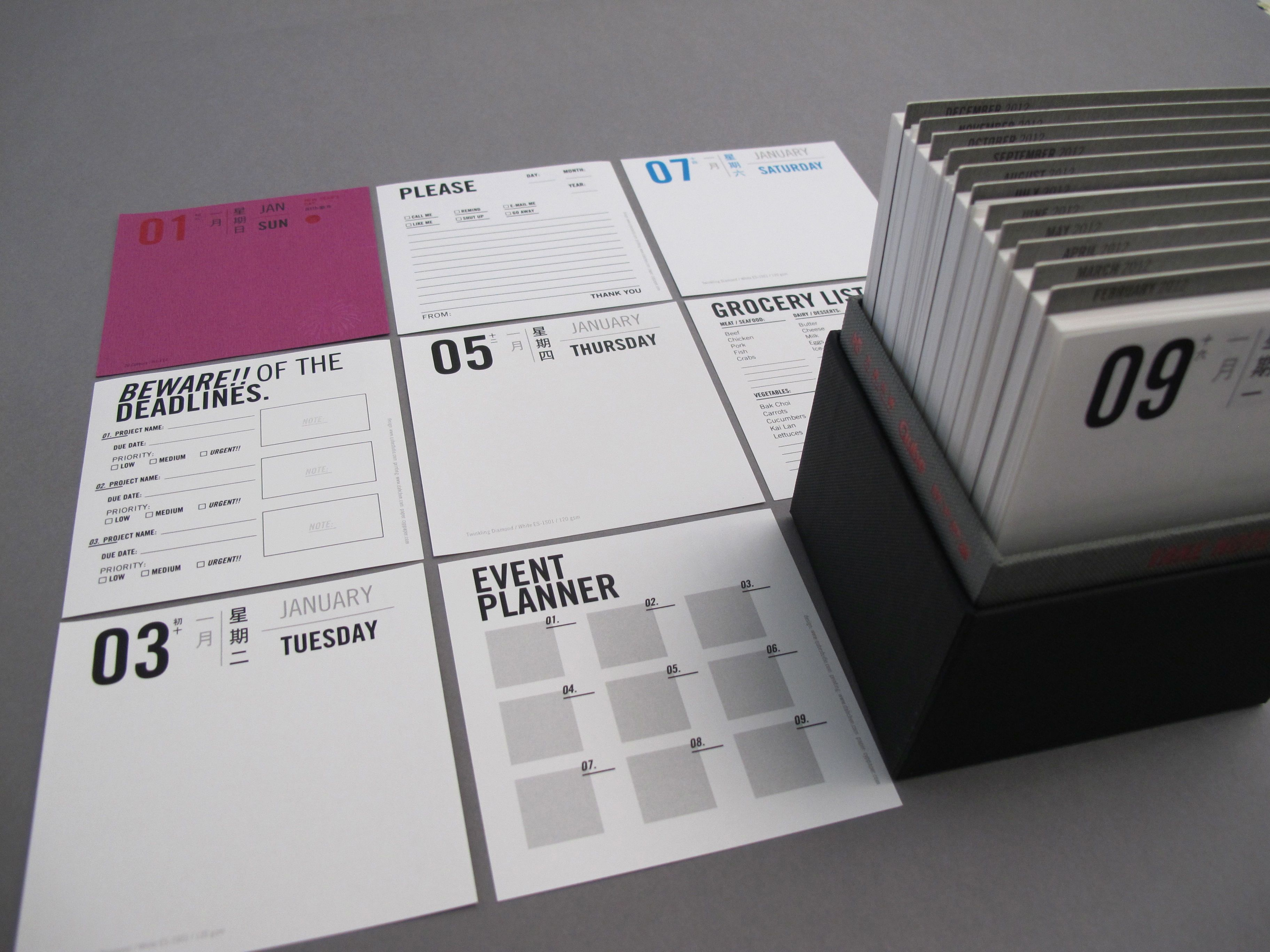 Calendar Q : Qube calendars by studio at coroflot