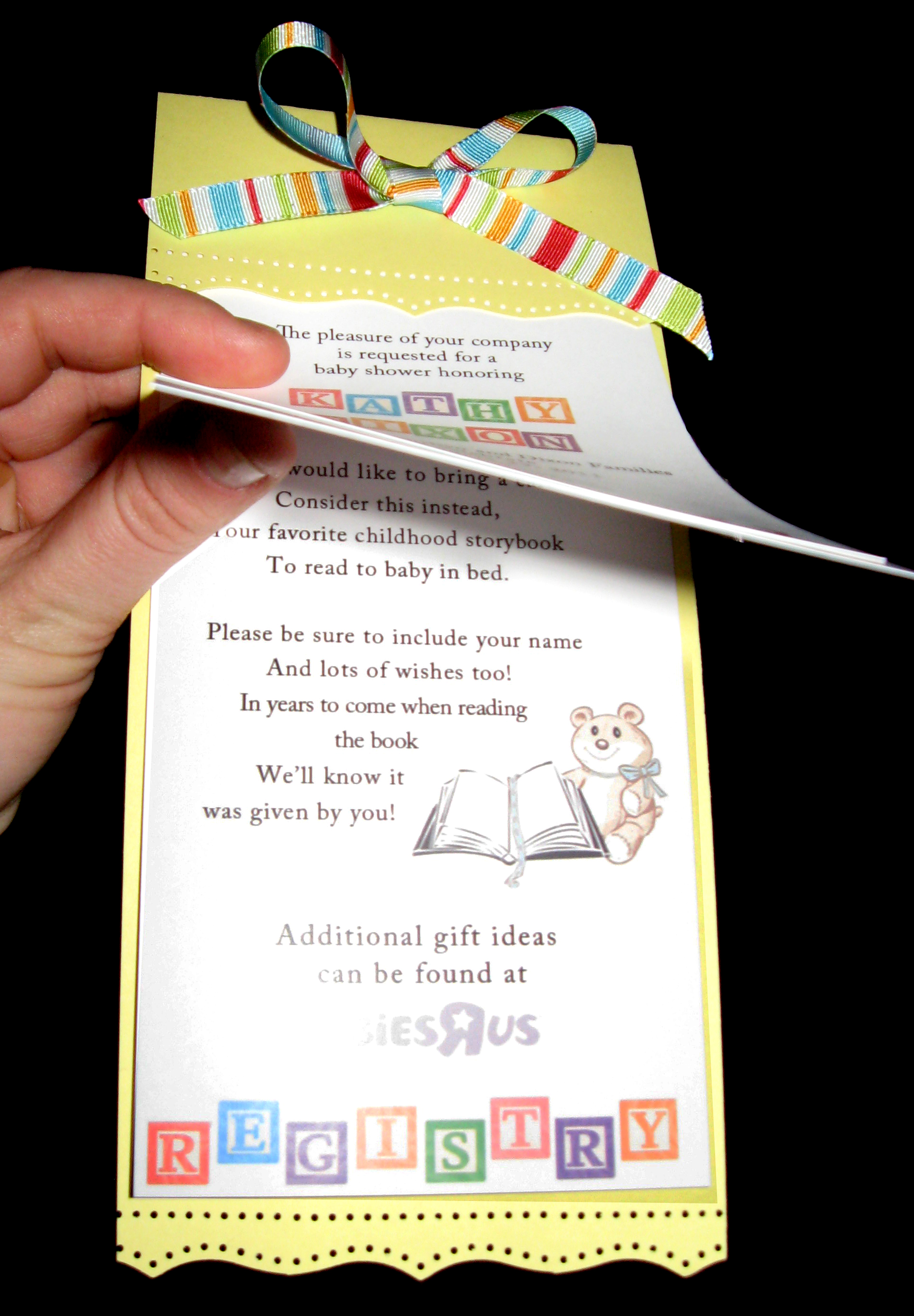 Book Themed Baby Shower Invitation as best invitation design