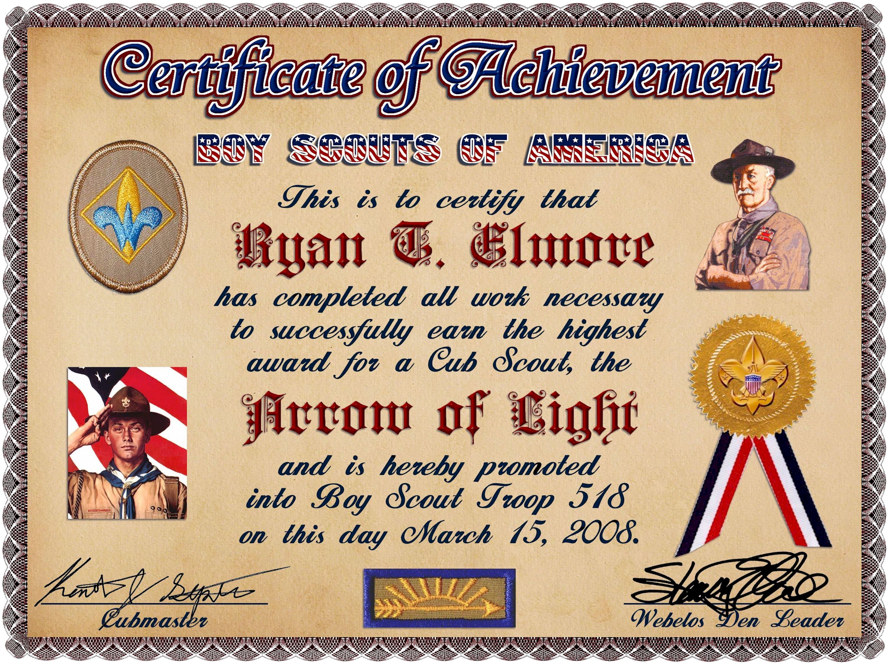 pin boy scout certificate template graphics and templates