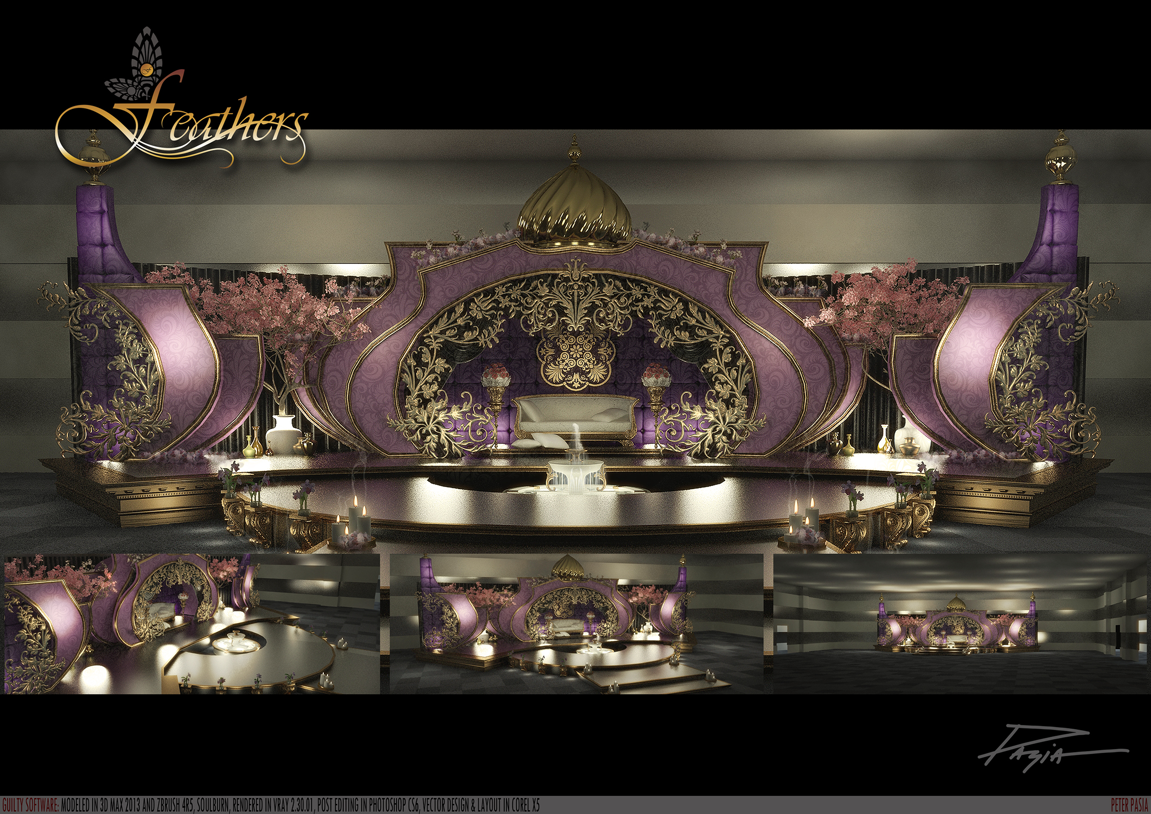 Arabic wedding stage design images for Arab wedding stage decoration