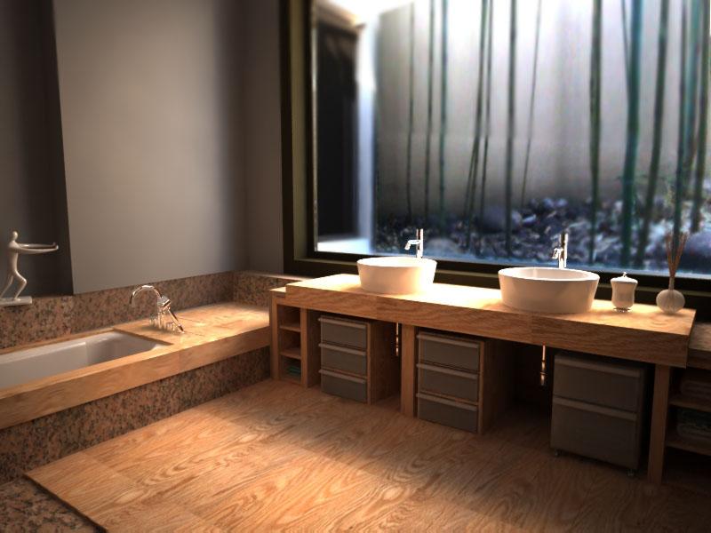 Bagno in stile giapponese by anna ovchinnikova at - Bagno stile giapponese ...
