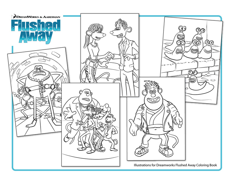Flushed Away Free Coloring Pages