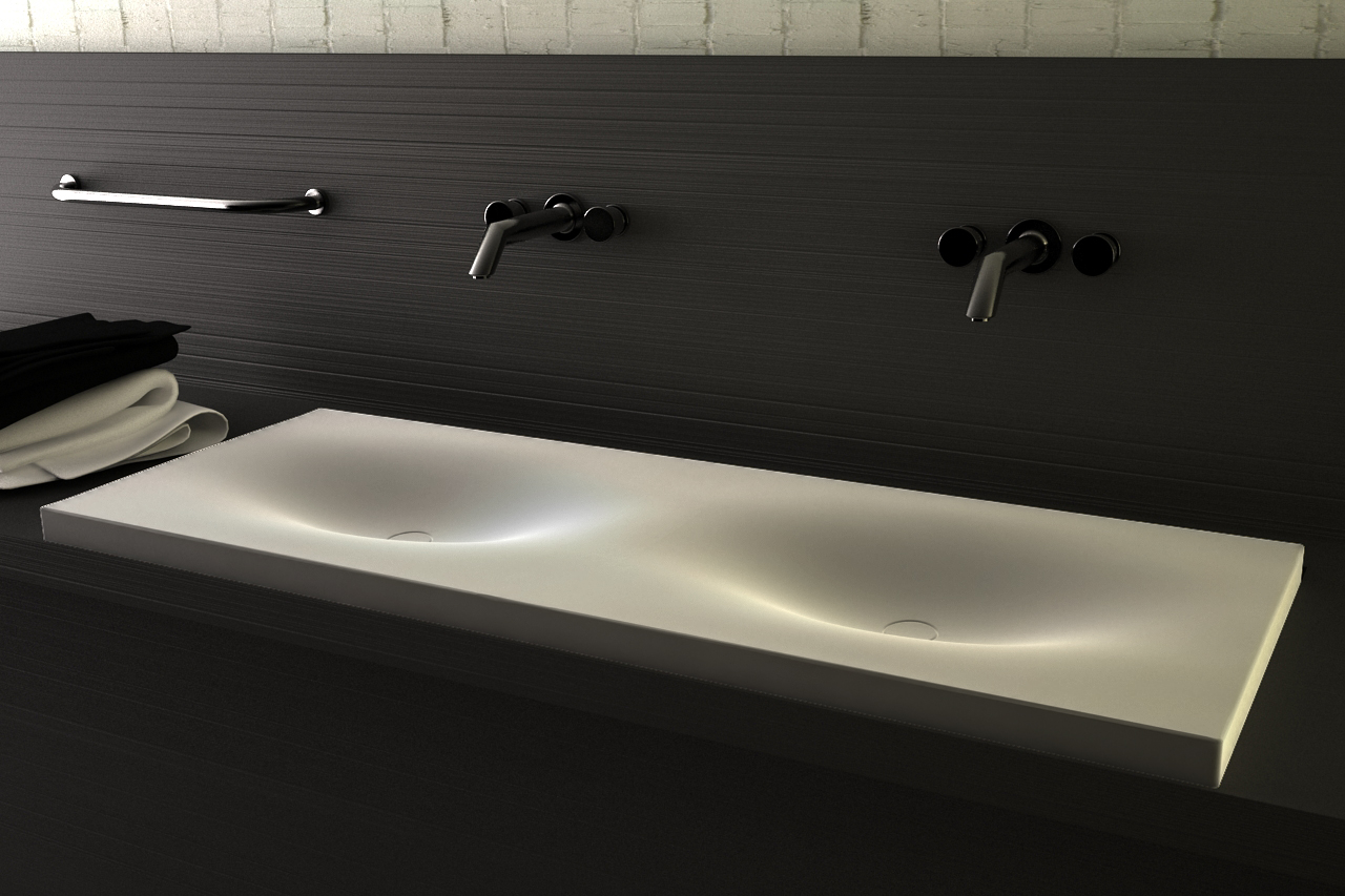 Cocoon by vaskeo corian products for bathroon at - Plan vasque salle de bain ...