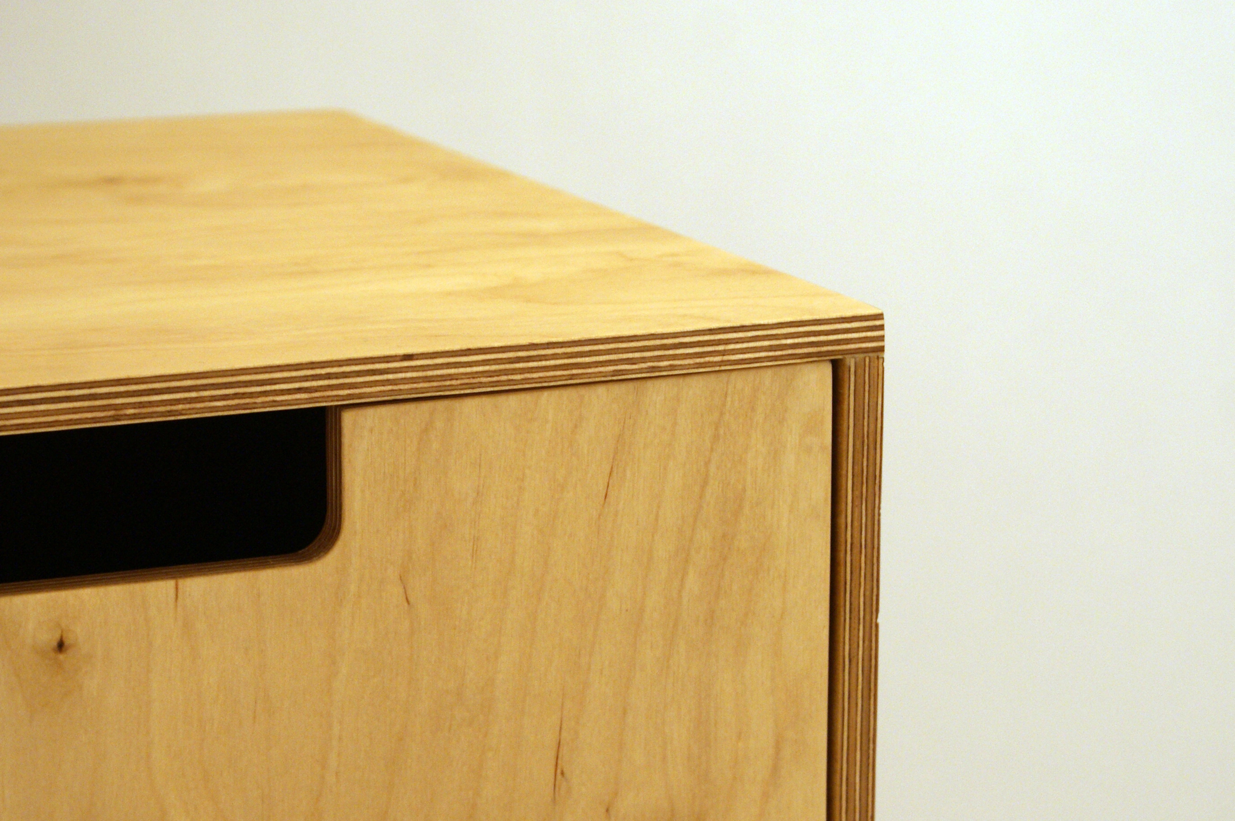 Plywood side table the image kid has it for Plywood bedside table