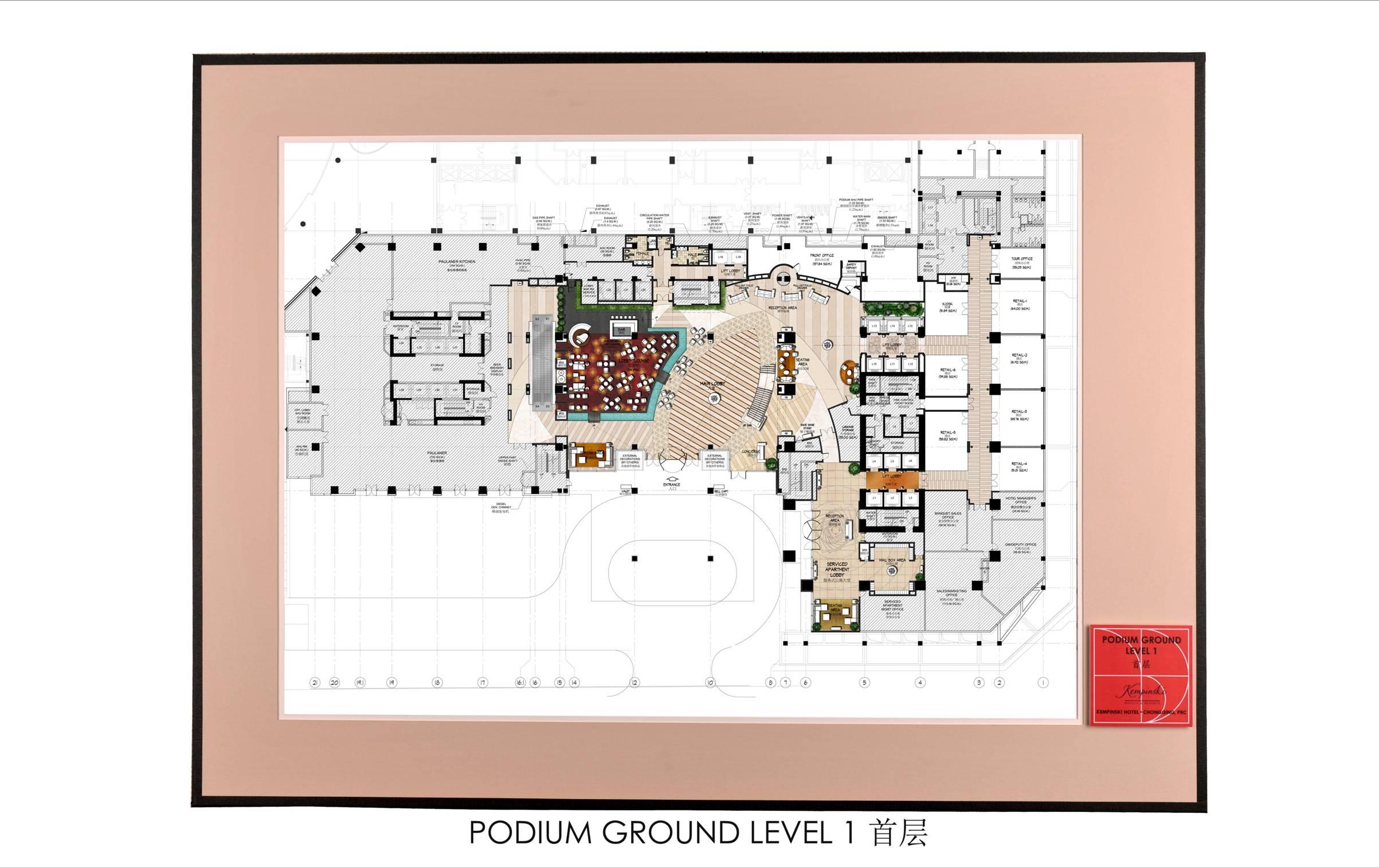 kempinski hotel chongqing prc by chin hei ng at coroflot com main lobby floor plan