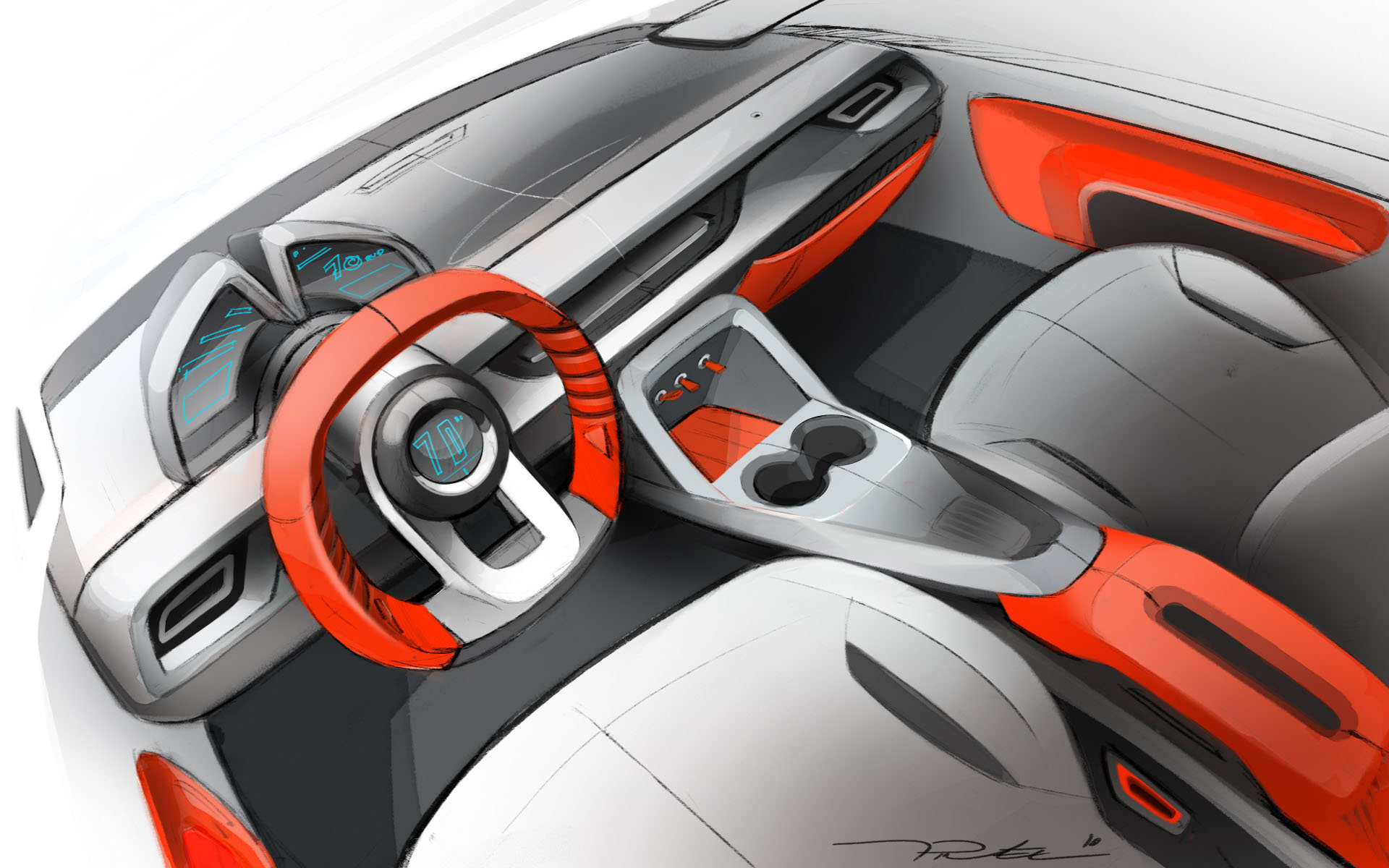 Interior car concept by thomas pinel at for Dash designs car interior shop