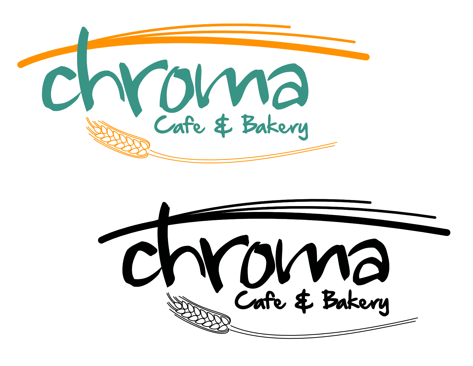 chroma cafe logo design by shawn ohara at coroflotcom