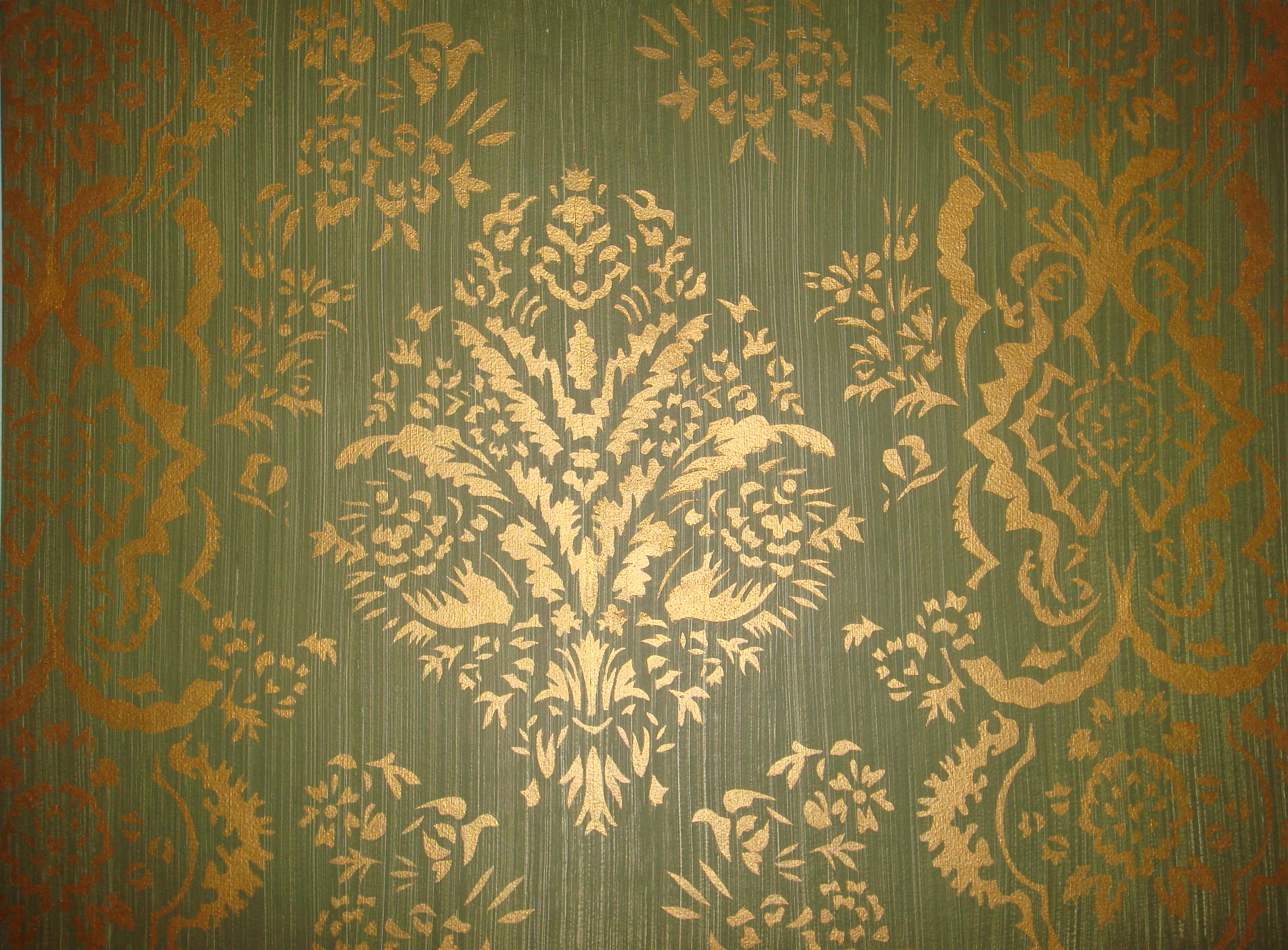 Gallery of gold stencil wall fabulous homes interior design ideas gold stencil wall amipublicfo Choice Image