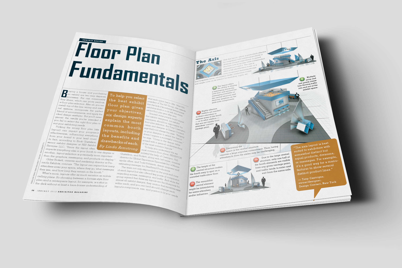 Exhibitor magazine floor plan fundamentals for Floor plan magazines