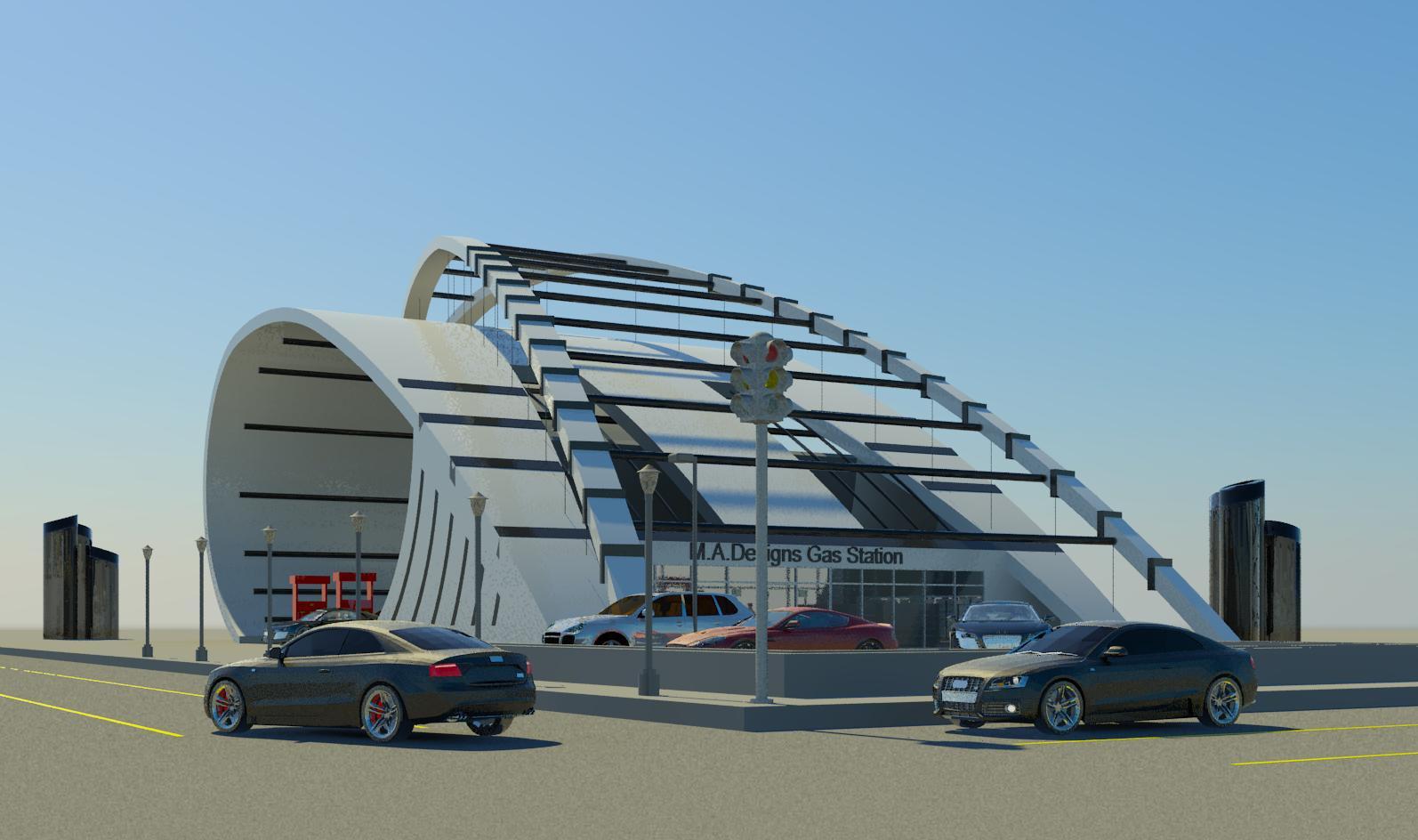 Modern Gas Station by Movses Dzhansyan at Coroflot.com