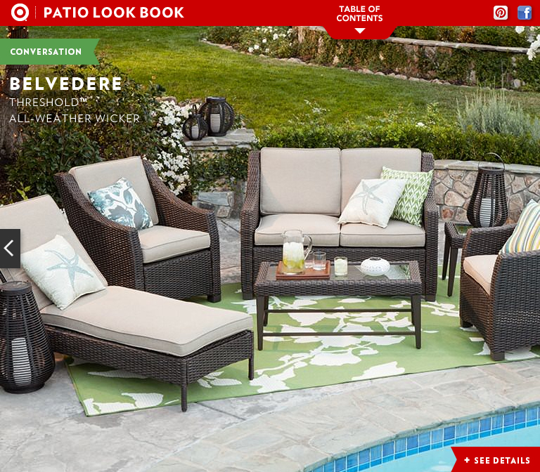 Awesome Target Threshold Wicker Deep Seating By Katie Wittenberg At. Threshold Deep  Seating Cushion Outdoor Furniture ...