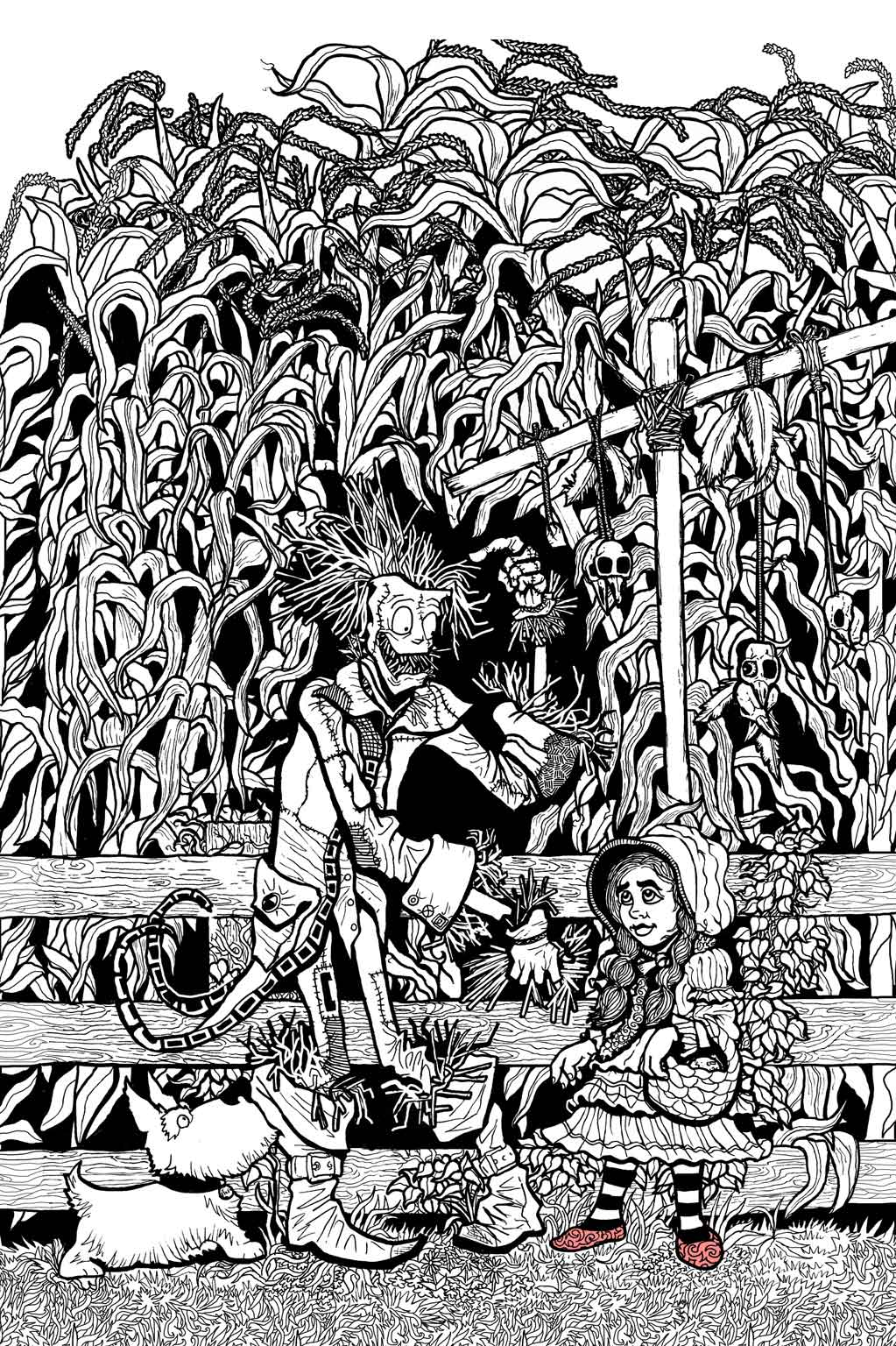 wizard of oz coloring book by ethan mongin at coroflot com